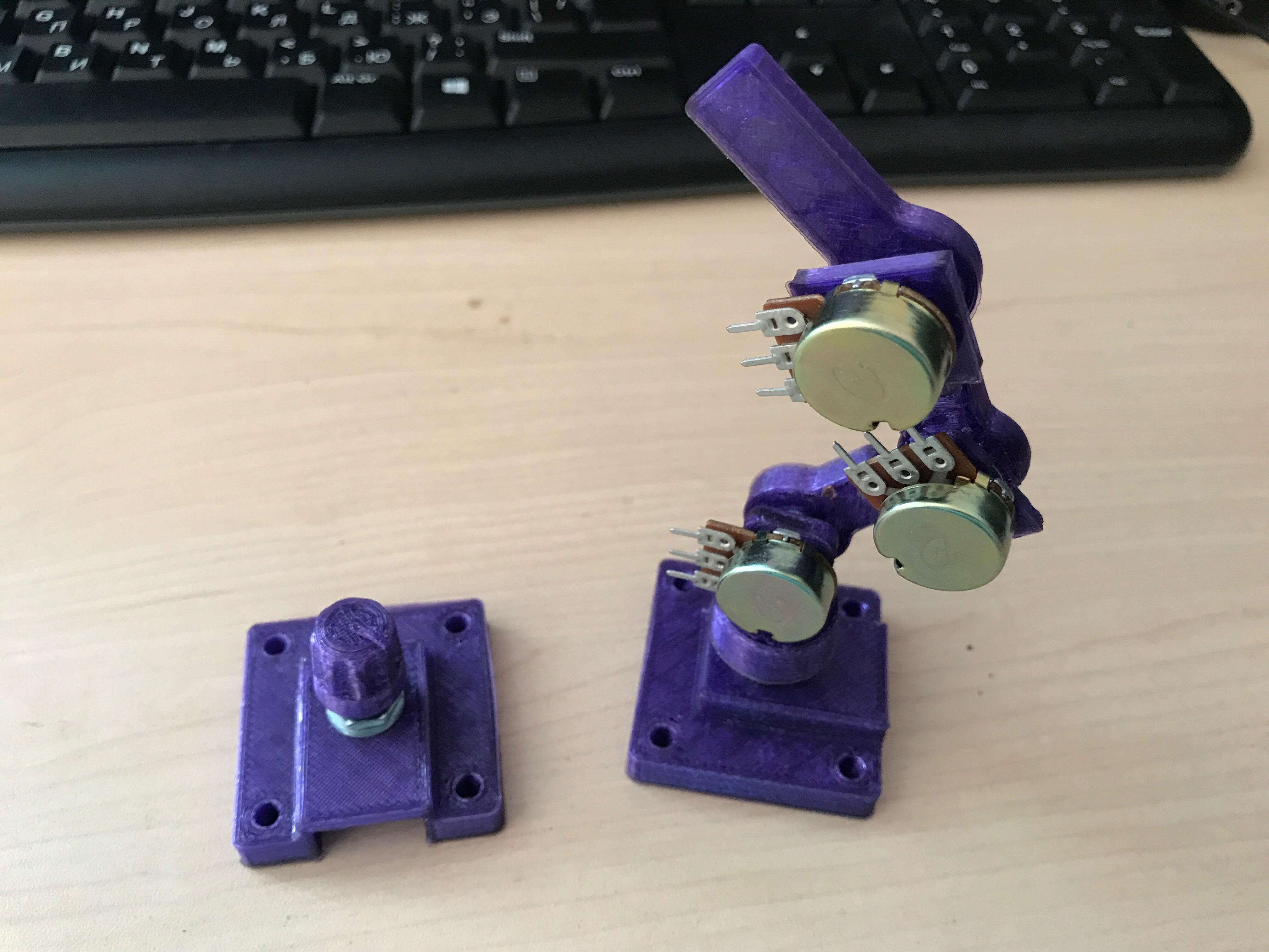 Joystick for robotic arm (potentiometer) by igor2890 - Thingiverse