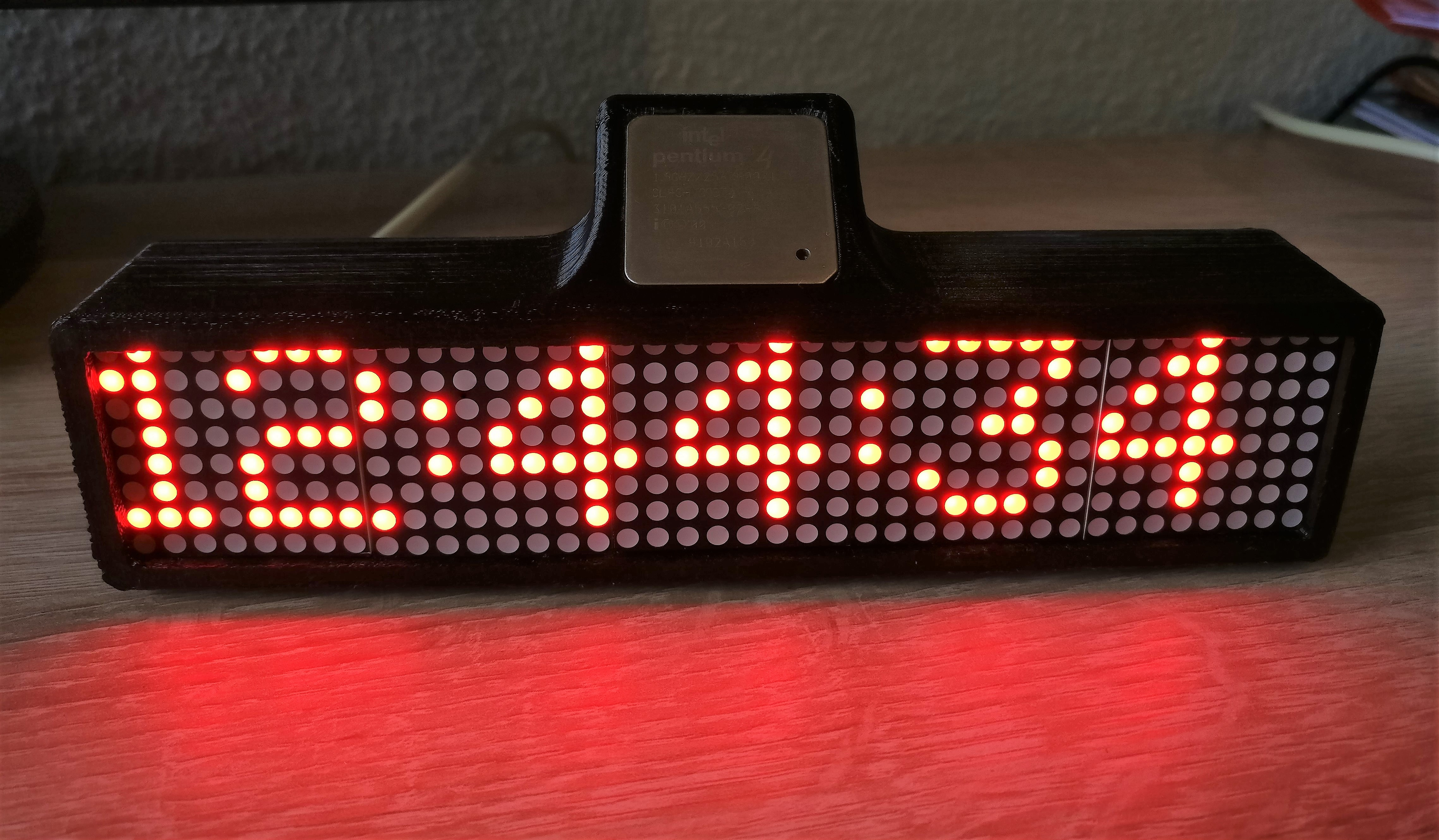 Arduino LED Matrix Clock by Wi_Zeus - Thingiverse