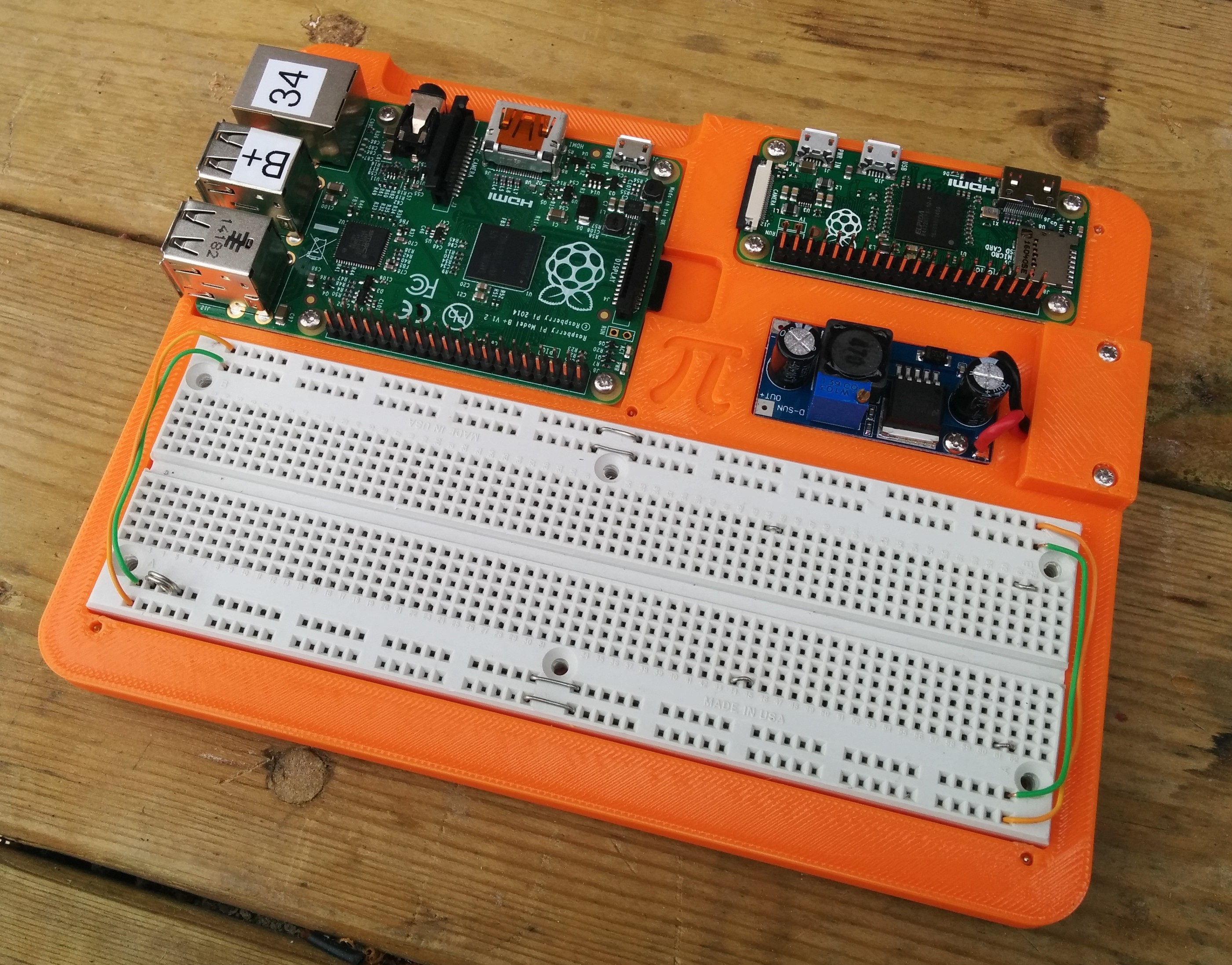 Breadboard Raspberry Pi Prototype Board By Dimwit Dave Thingiverse Breadboards Electronics Images Original