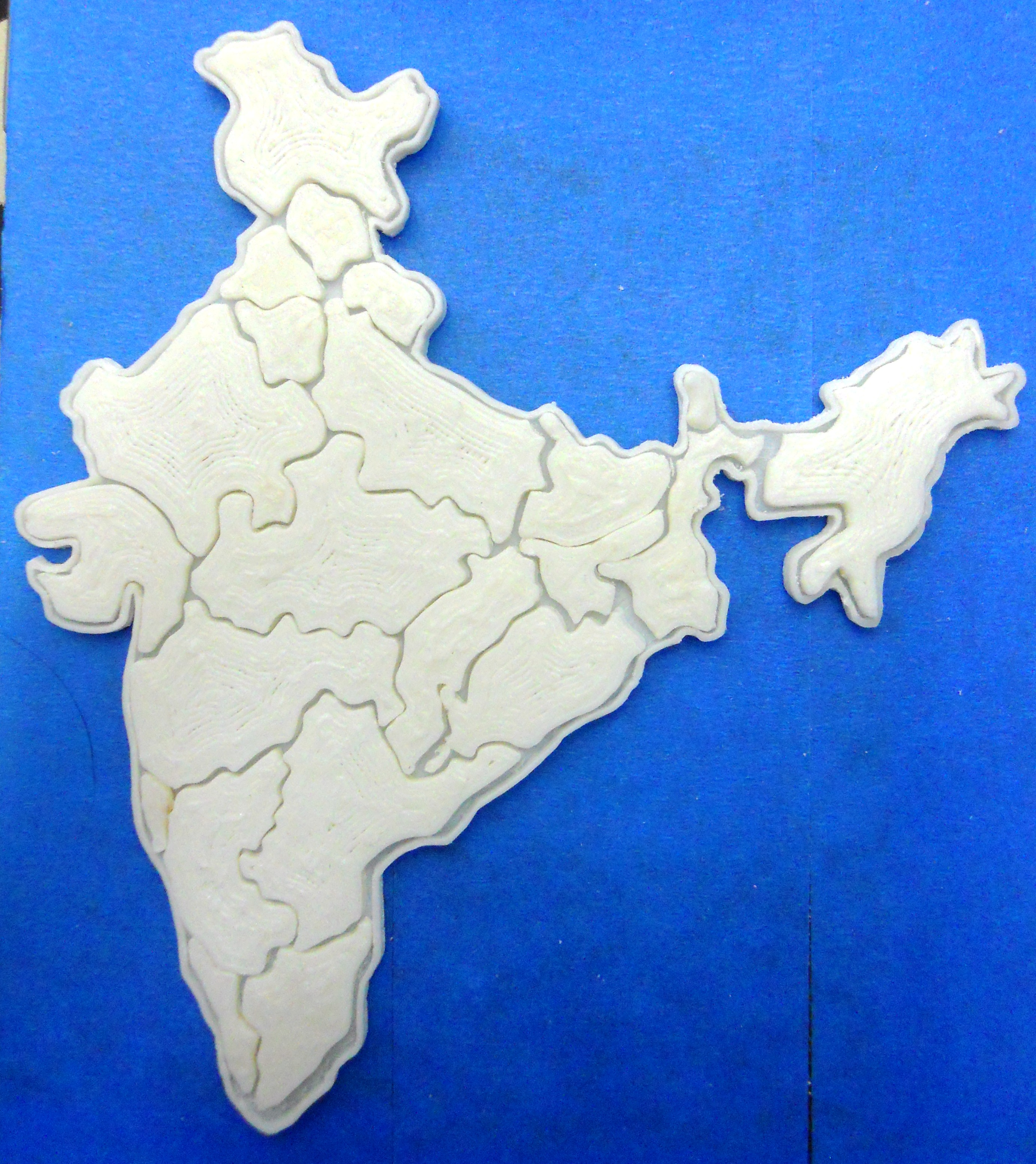 India Map Puzzle.India Map Puzzle By Indusmaker Thingiverse