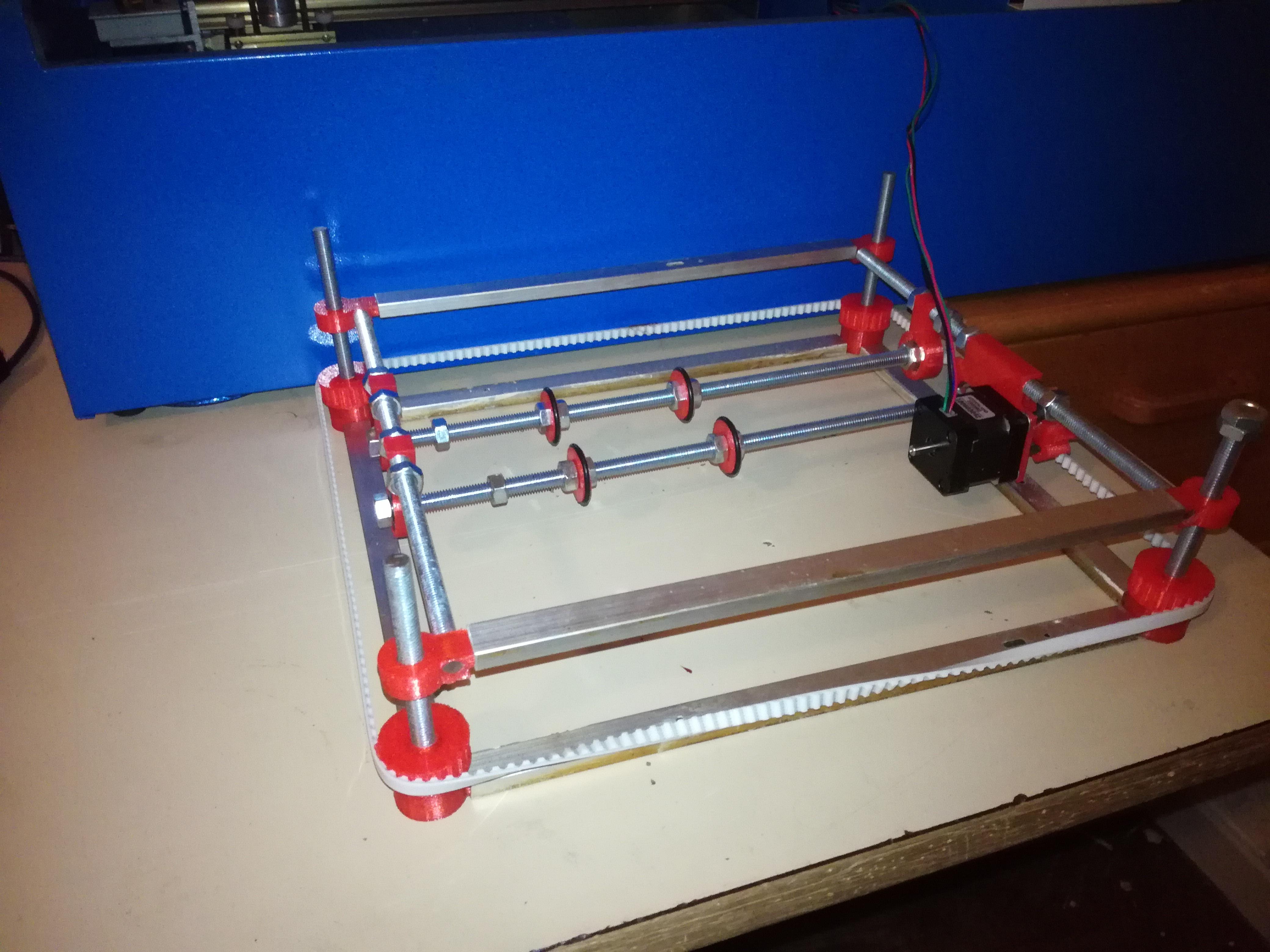 K40 laser bed