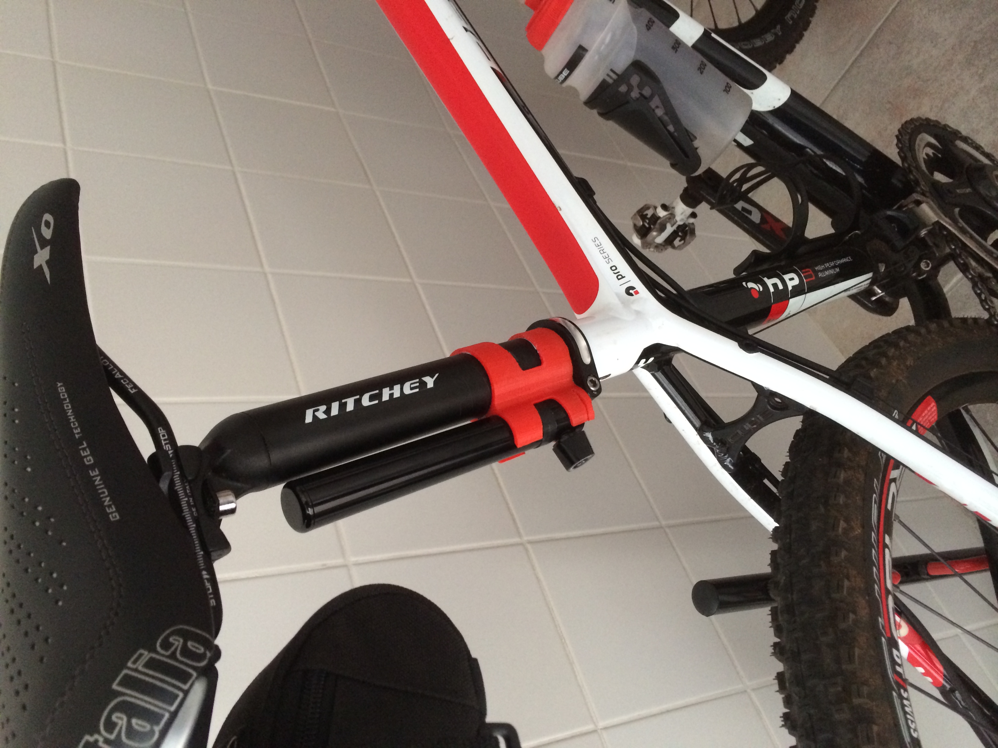 Bicycle Pump Holder By Bandit Ed Thingiverse