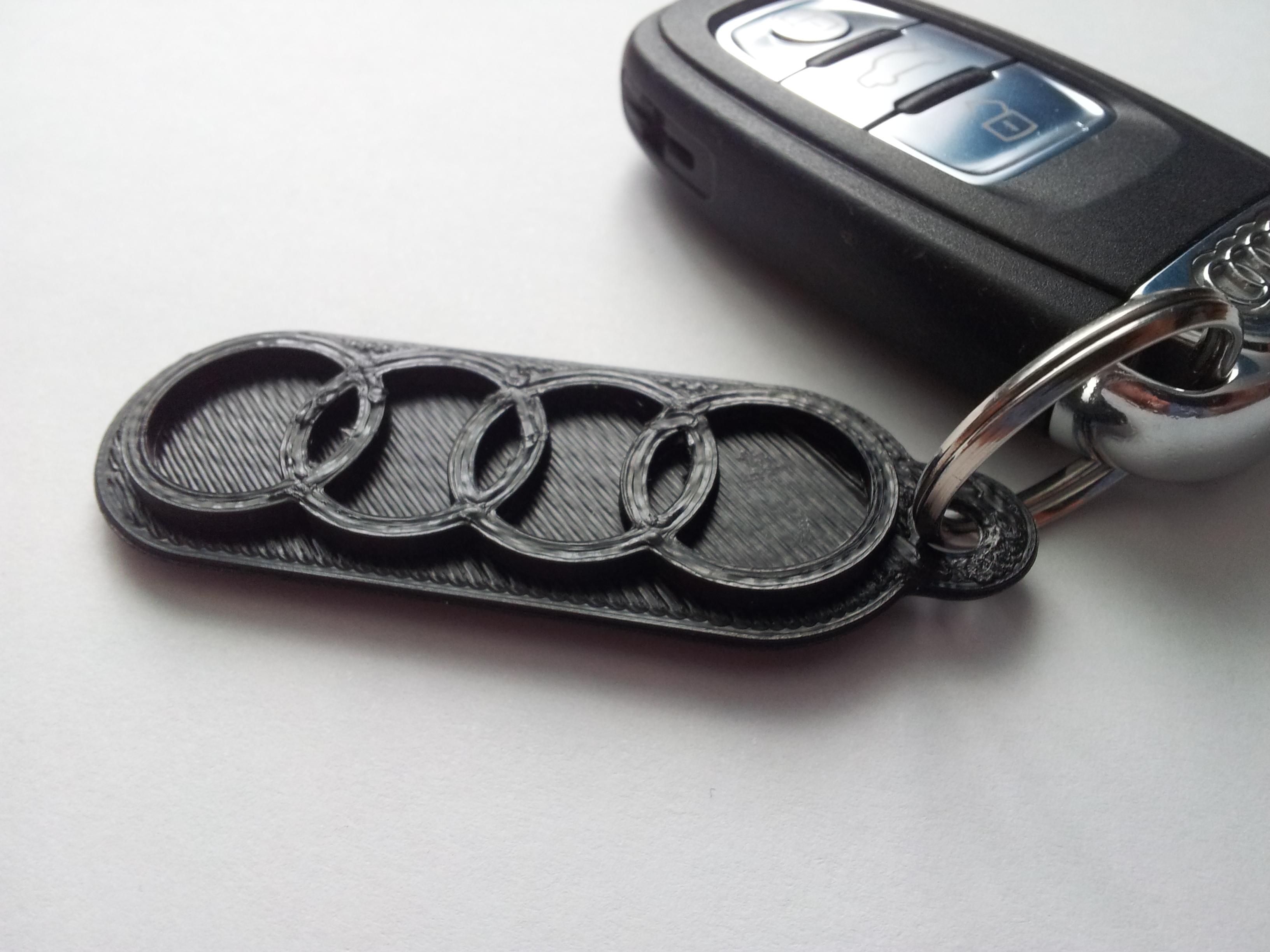 Audi Keychain By Churchi Thingiverse - Audi keychain