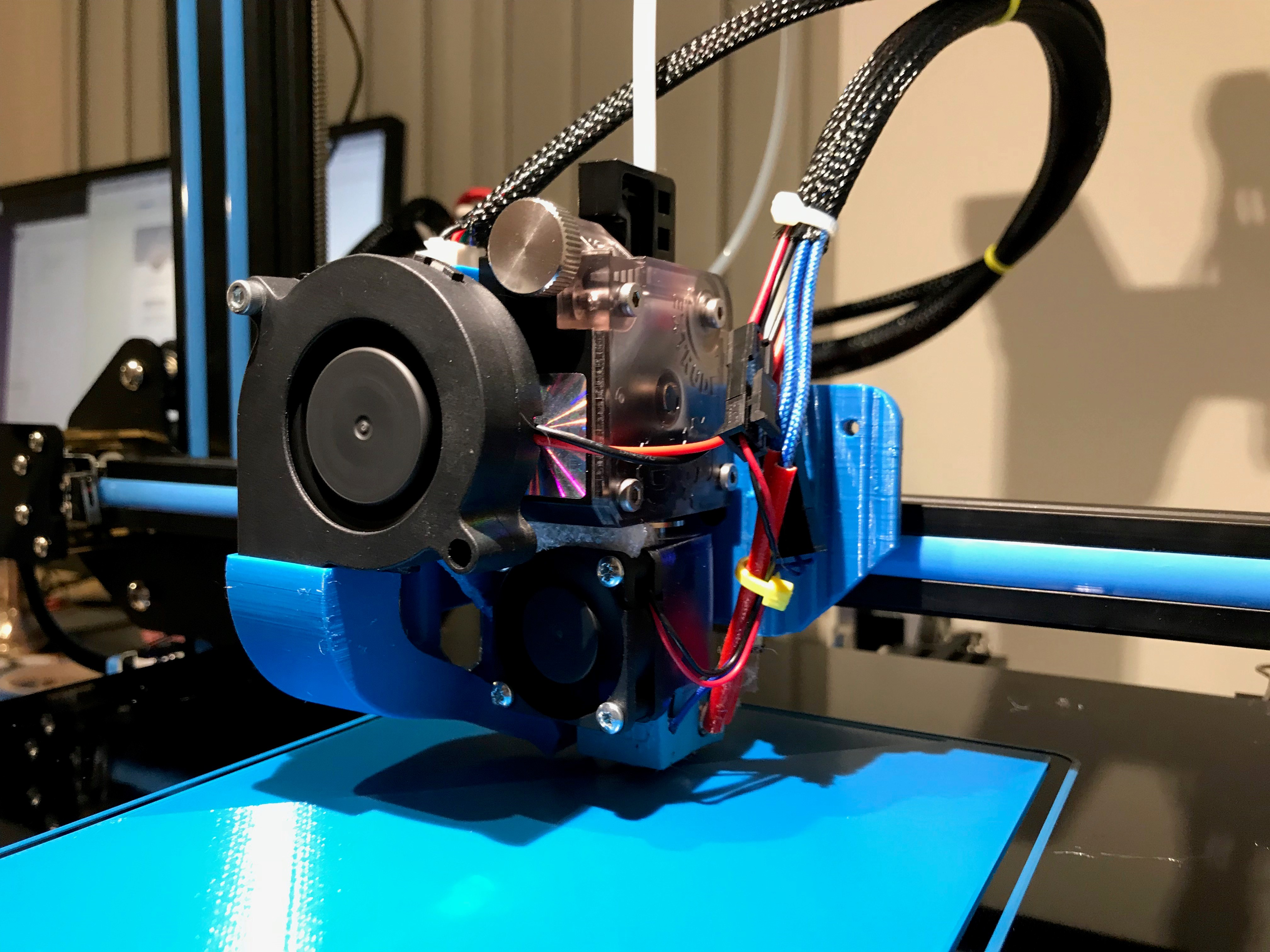 CR-10 E3D Titan Direct Drive Extruder Mount for V6 and Volcano by