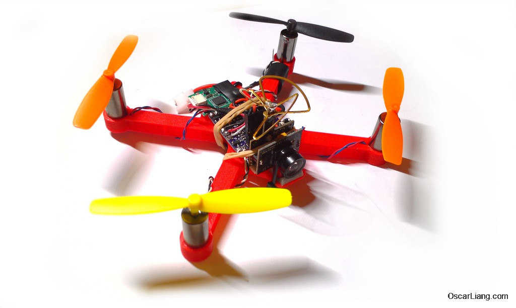 Oskie Micro Quad Frame (8.5mm Brushed motors) by osliang - Thingiverse