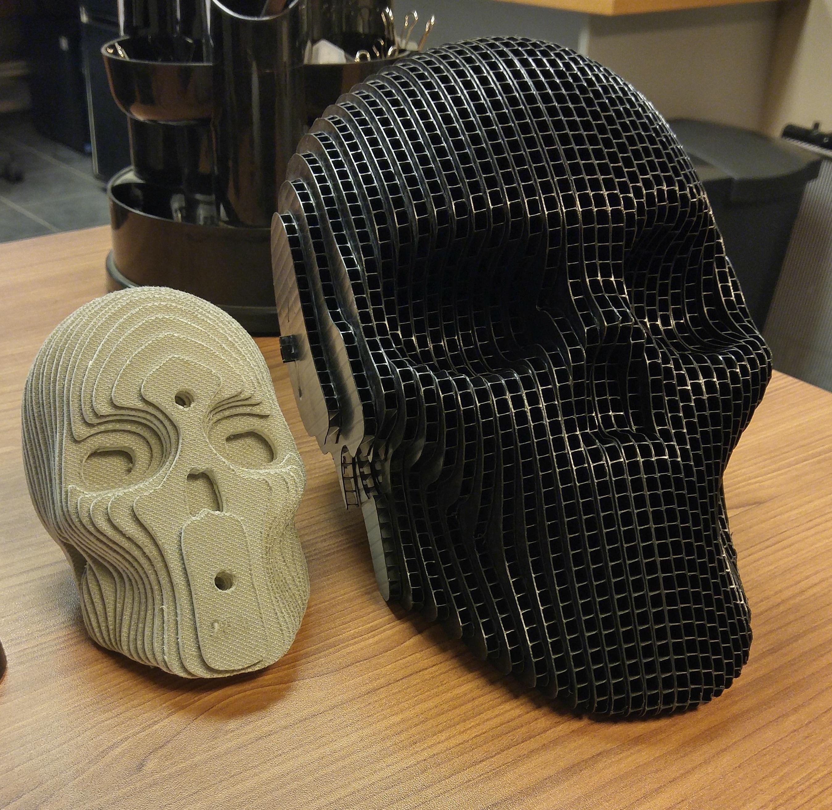 Plastic Corrugated Skull By Jayare92 Thingiverse