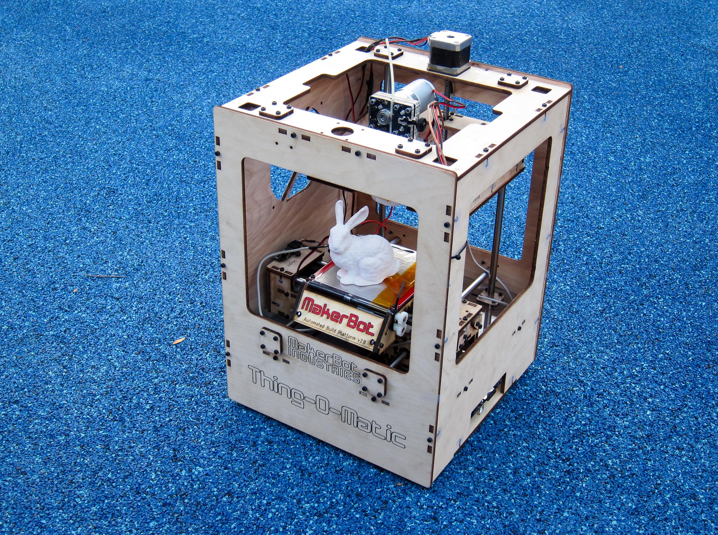 Thing-o-matic 3d printer by makerbot thingiverse.