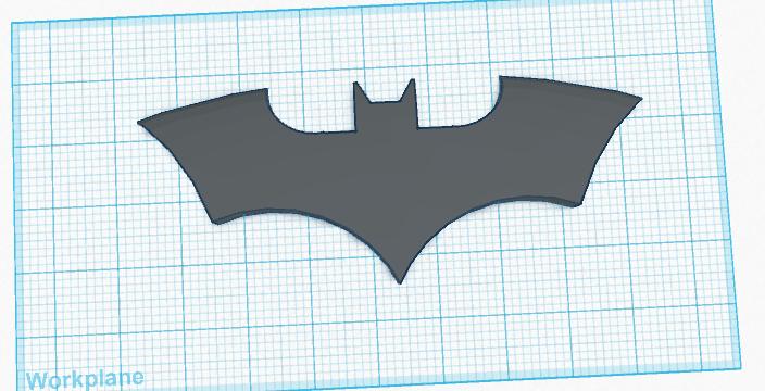 The Bat Symbol By Thedarkknight Thingiverse
