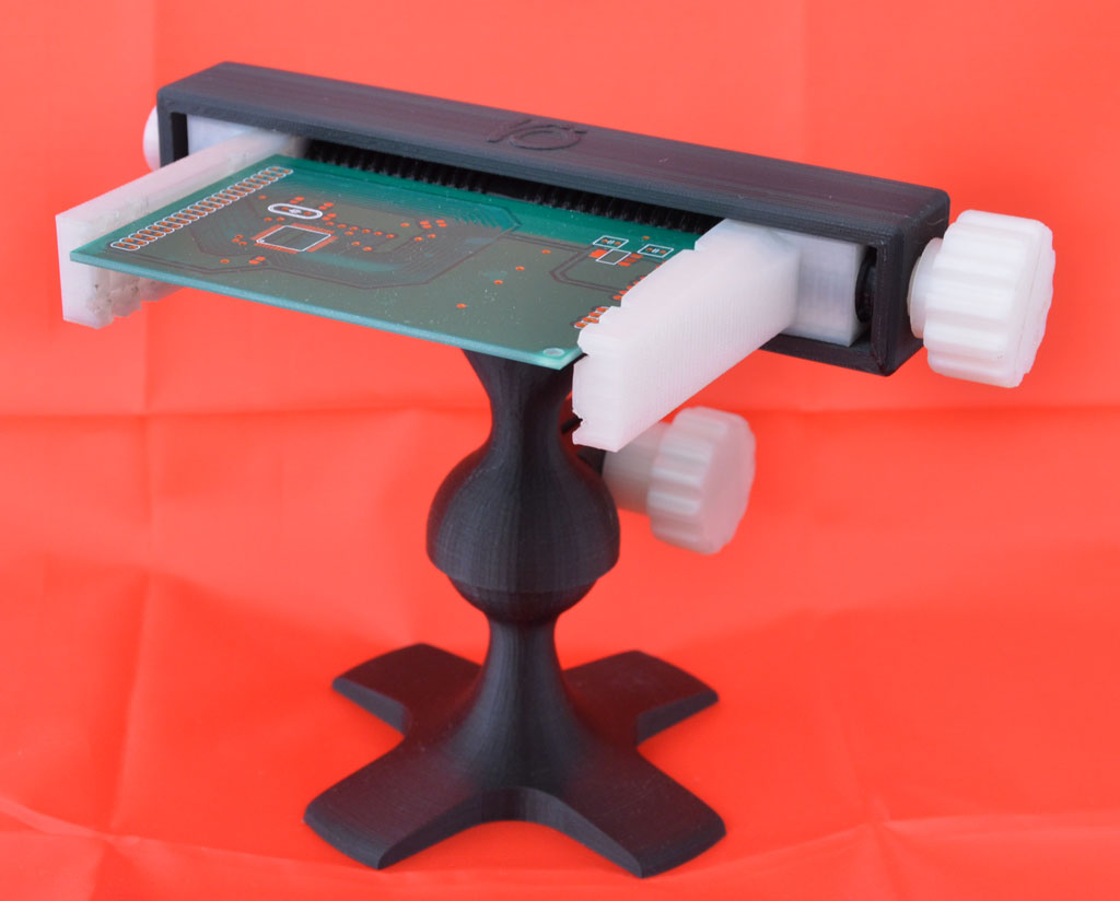 Fully Printable Pcb Vise By Sneakypoo Thingiverse Home Panavise Large Circuit Board Holder Apr 14 2012 View Original