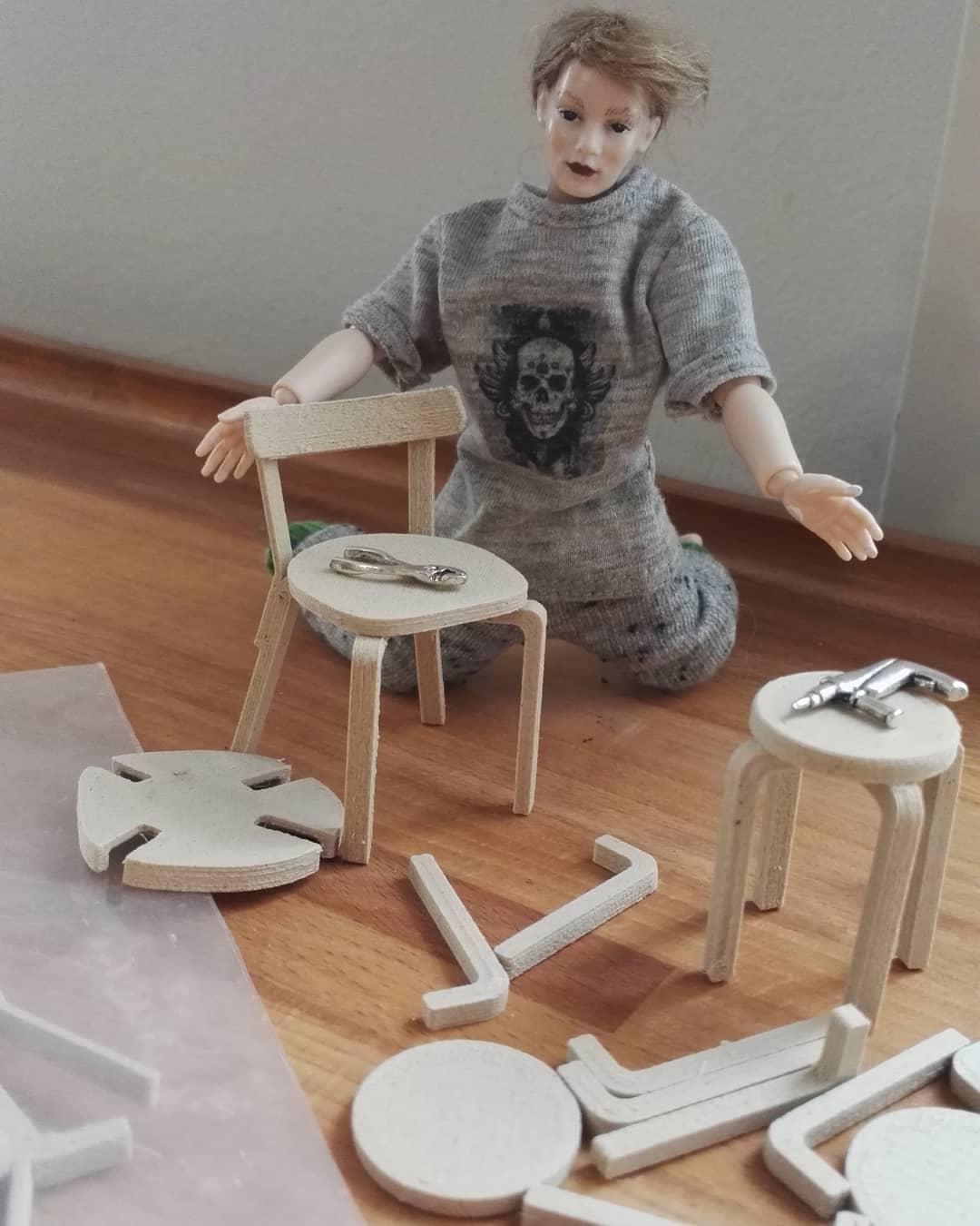Alvar Aalto dollhouse chairs