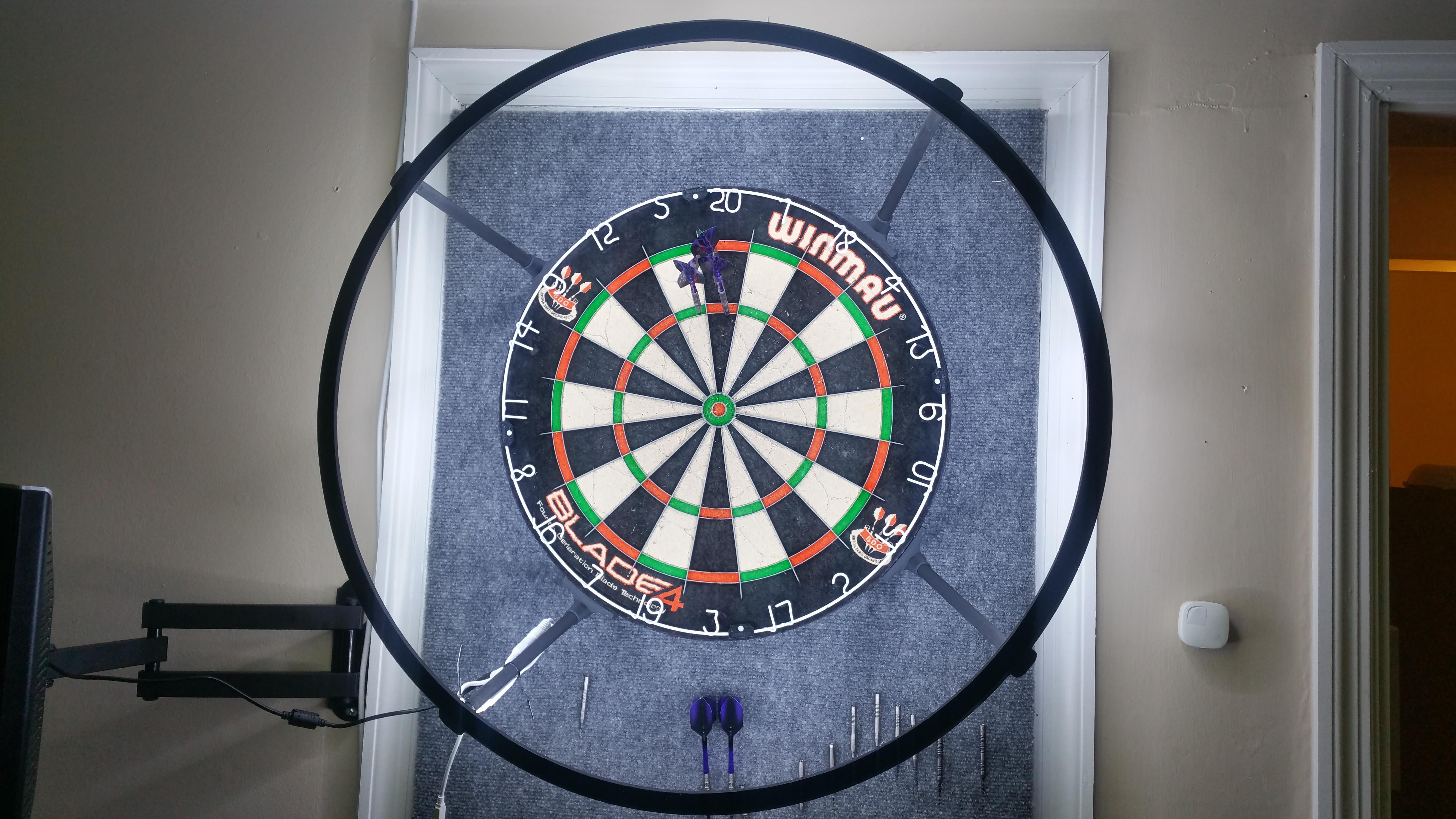 led dartboard surround by nonothing thingiverse