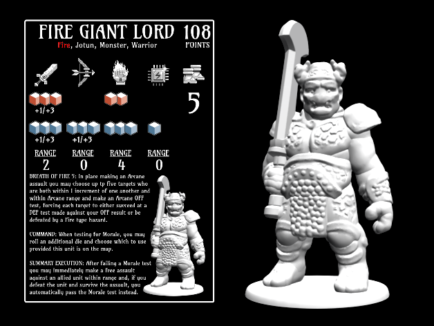 Fire Giant Lord 18mm scale by dutchmogul Thingiverse