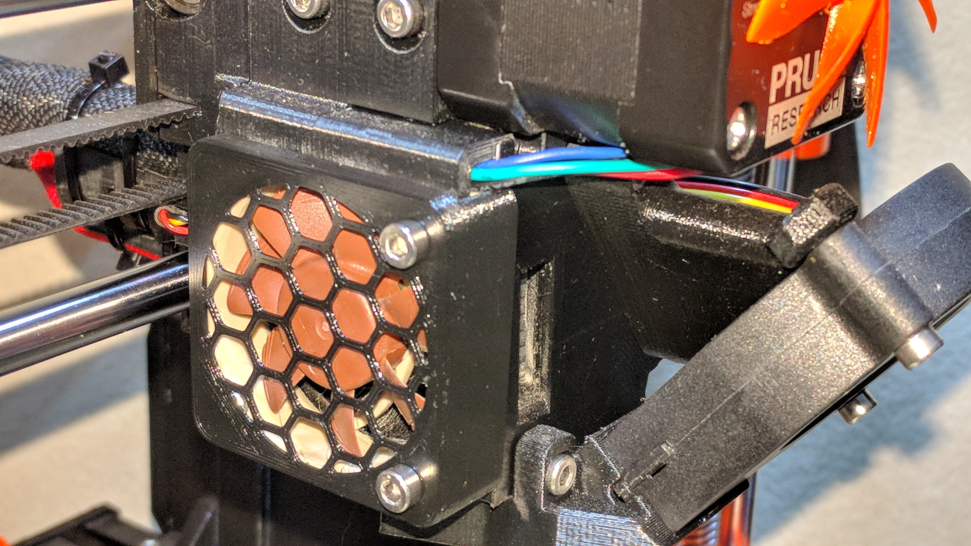 Prusa i3 MK3 Noctua Extruder fan cover by Petclaud - Thingiverse