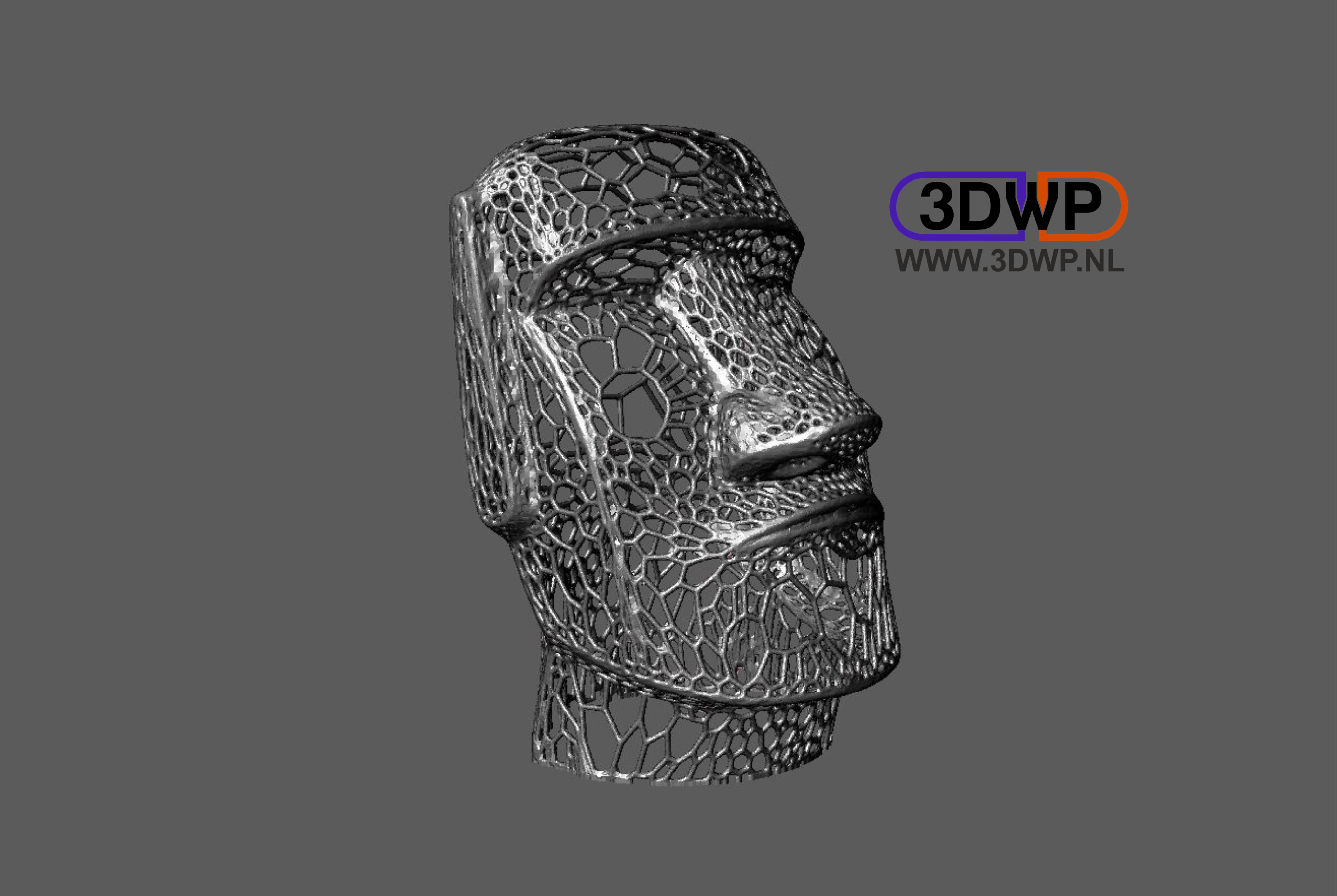 Moai Voronoi Style (Easter Island Sculpture) by 3DWP - Thingiverse
