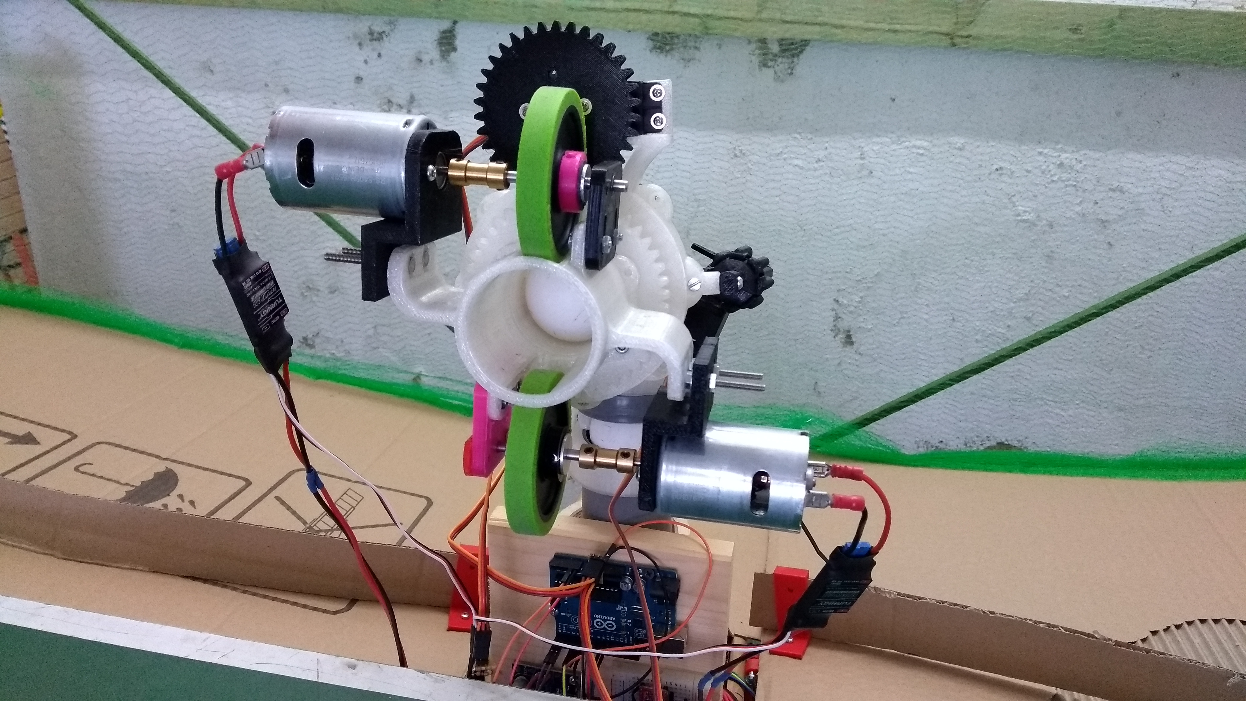 Homemade Table Tennis Robot - remix by bbogdanmircea - Thingiverse