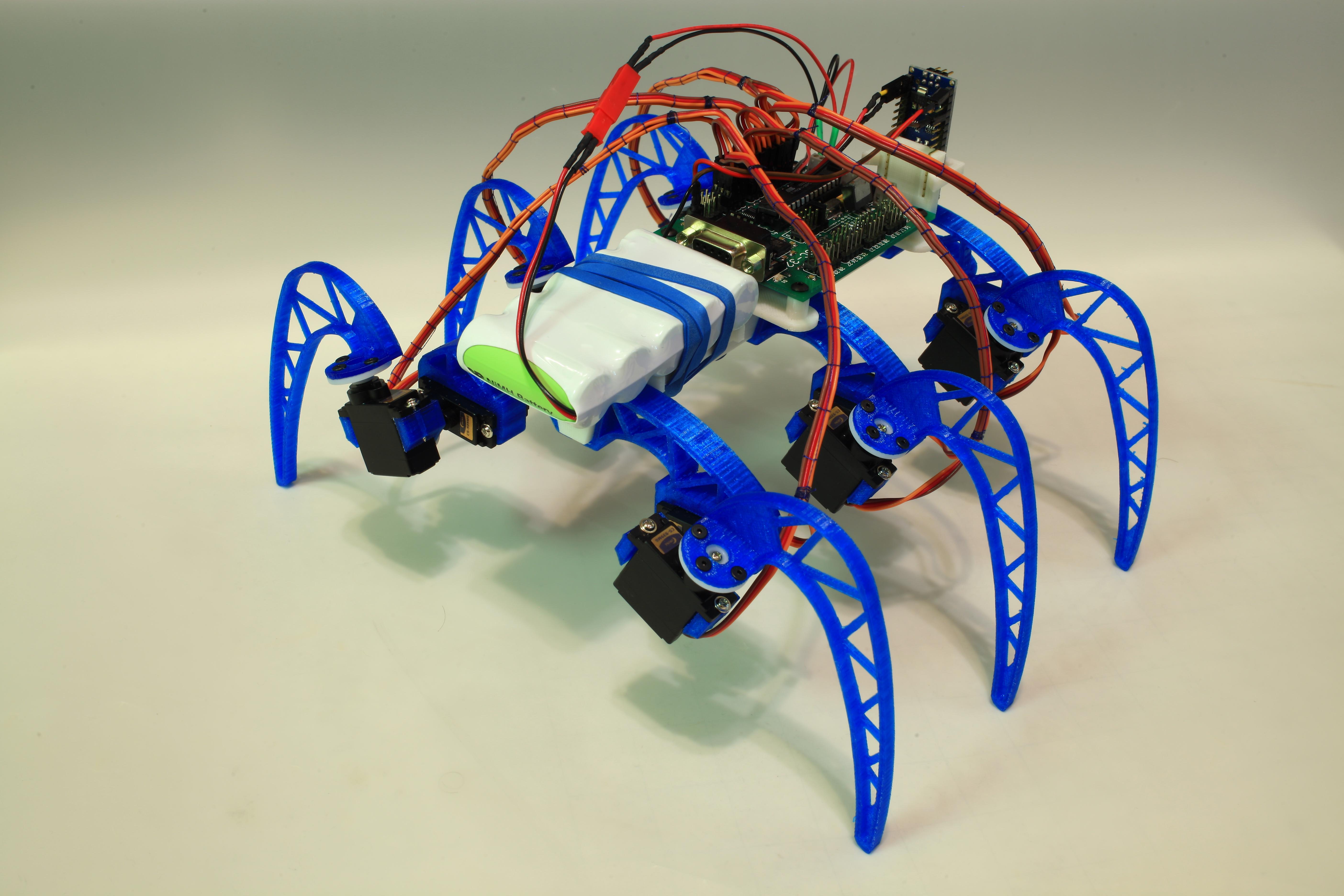 3D printable modular Hexapod robot frame by cdoughty