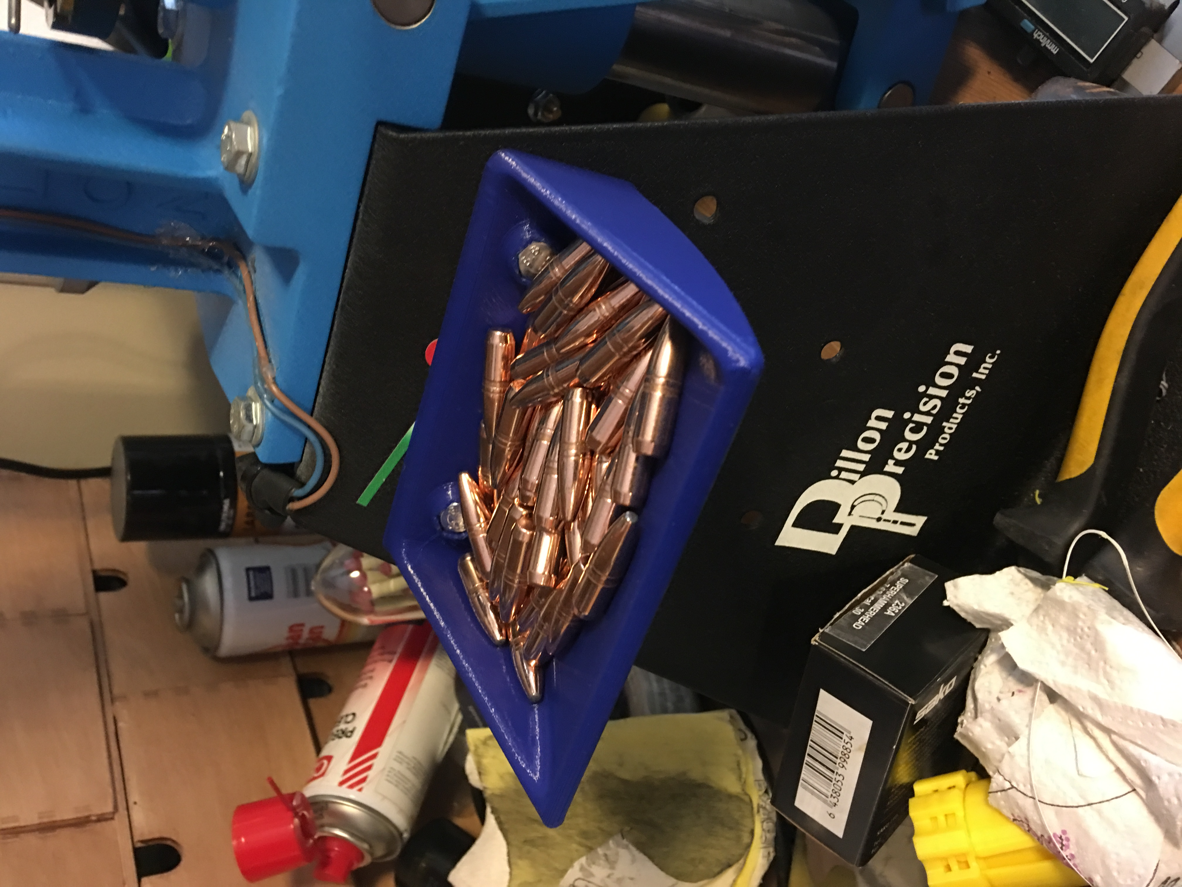 Dillon 550 Strong mount Bullet tray by Morokolli - Thingiverse