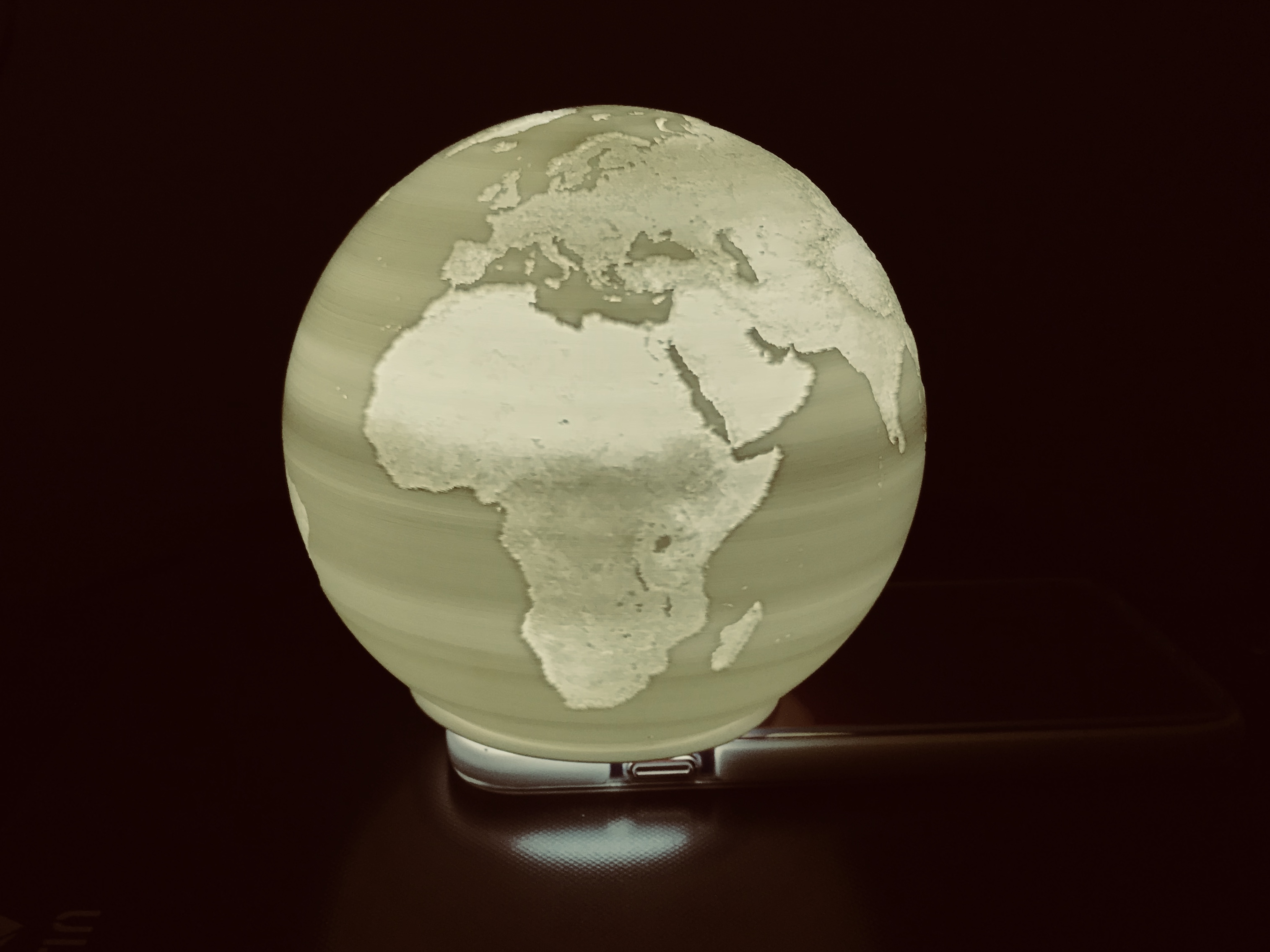 Spherical World Map.Spherical Lithophane World Map 12cm Remix By Domi1988 Thingiverse
