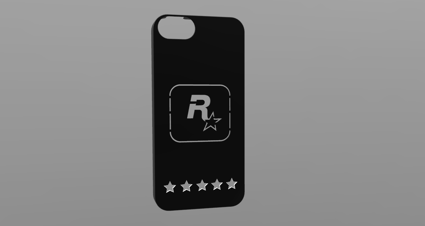 Cases for iPhone 5-5s with Rockstar Games logo by Jeffrey122