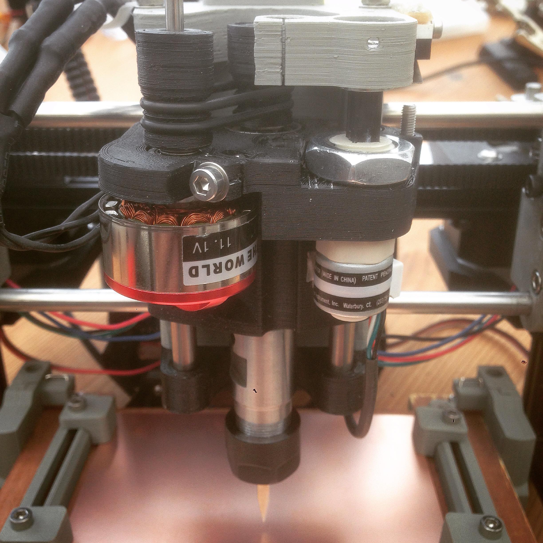 5mm Shaft and ER11 Chuck for Ant PCB Maker by stuartm