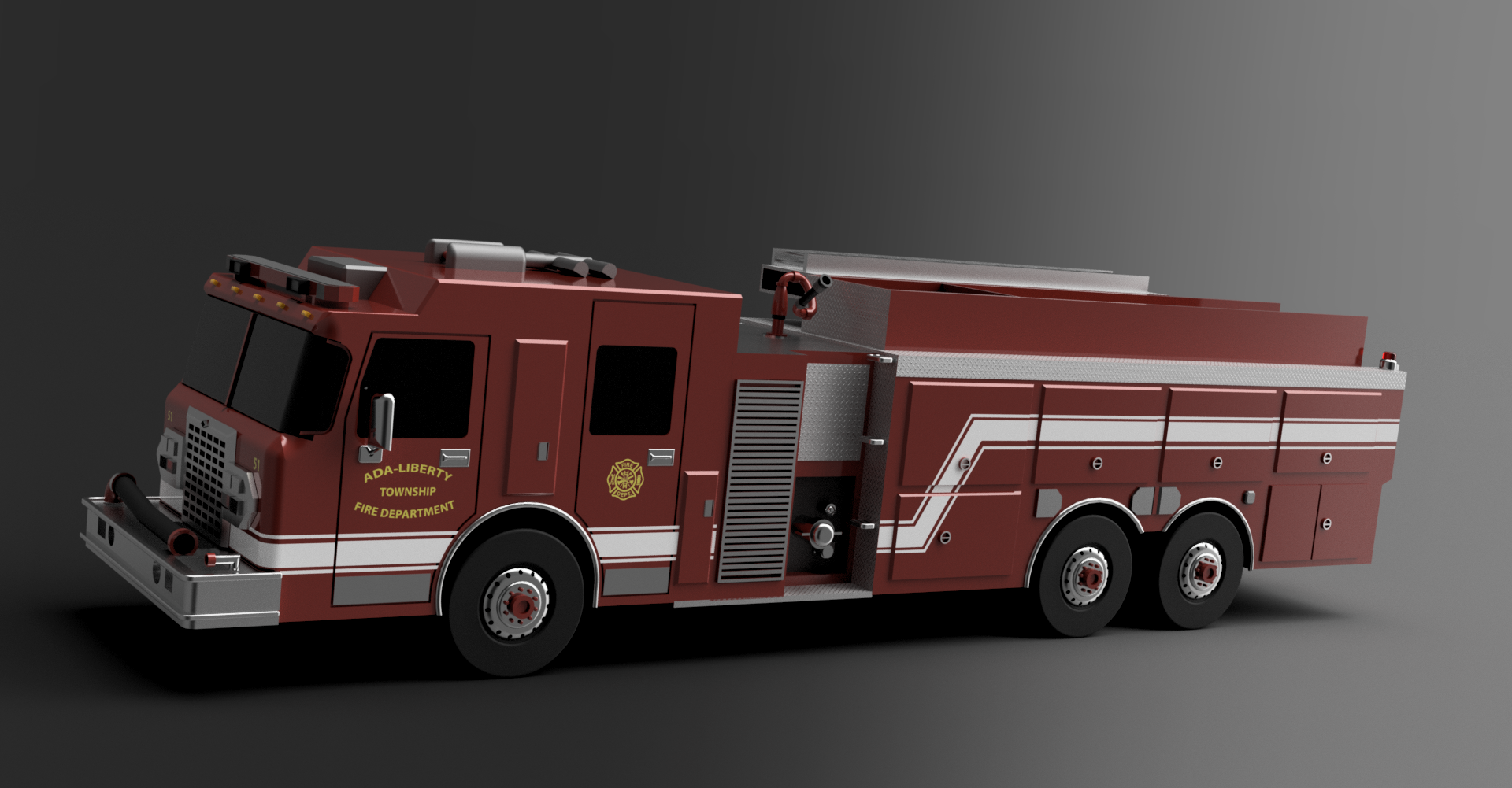 2019 Smeal/Spartan Fire truck pumper tanker by Tackelberry