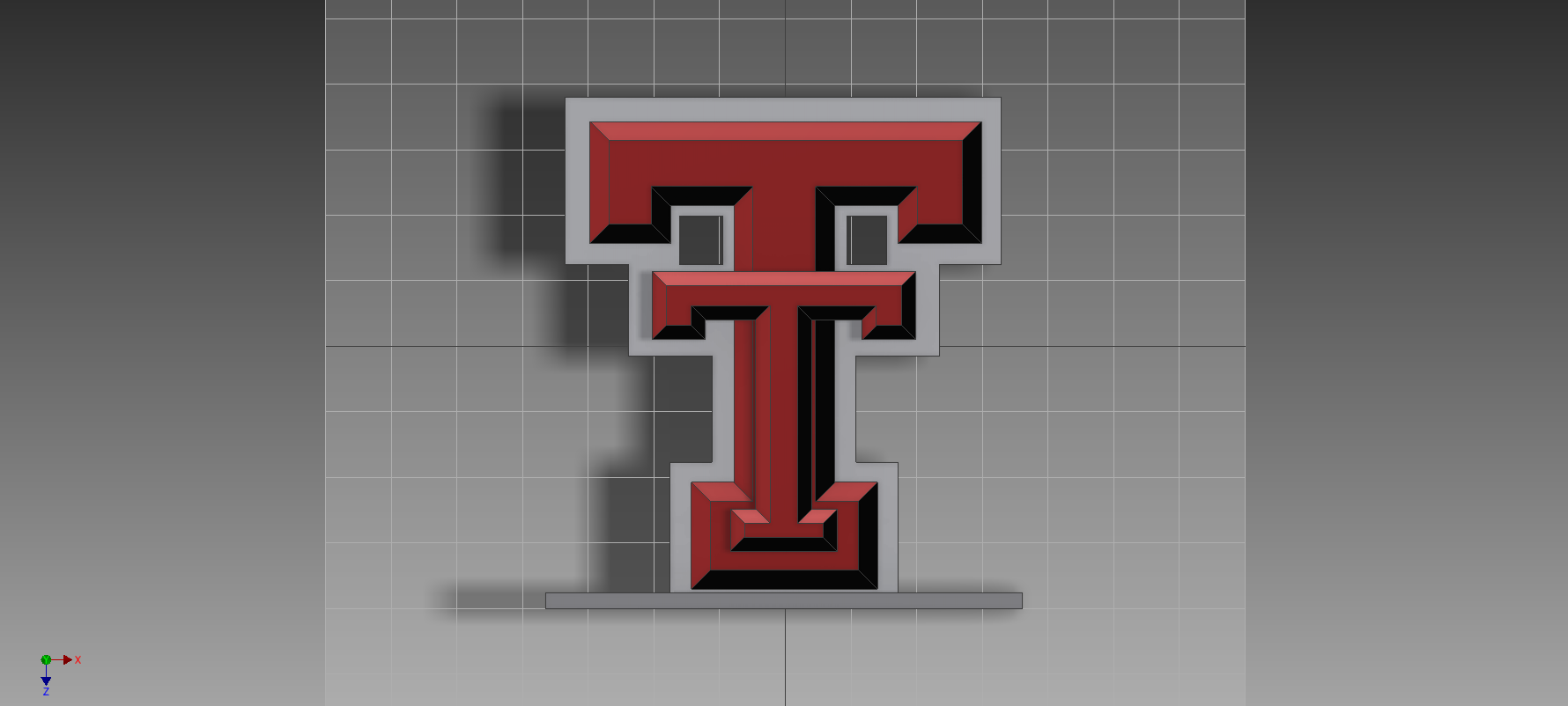 Texas Tech University Logo By Geek115 Thingiverse