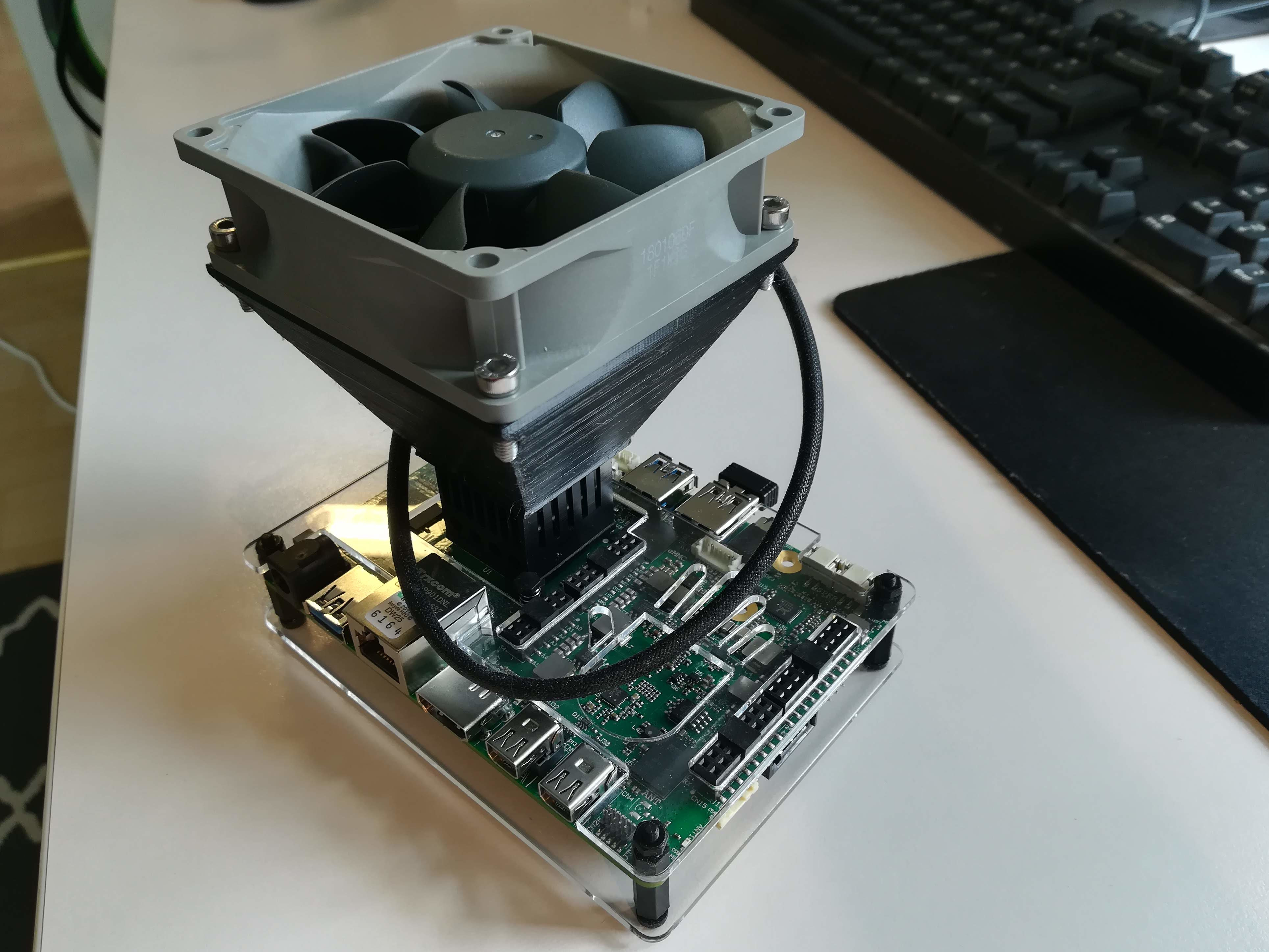 Udoo x86 mount for 80mm fan by postyogi - Thingiverse