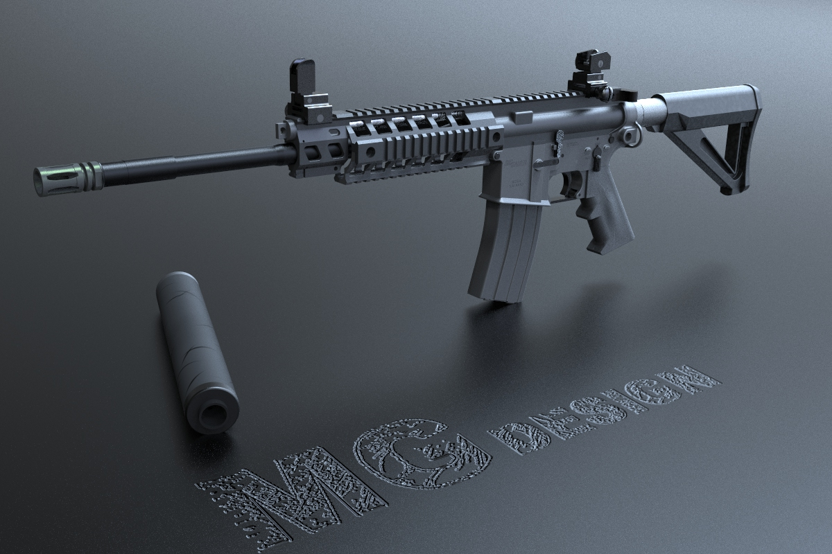 SIG516 Assault rifle (M416 M4A1) by MG-dream-technology - Thingiverse