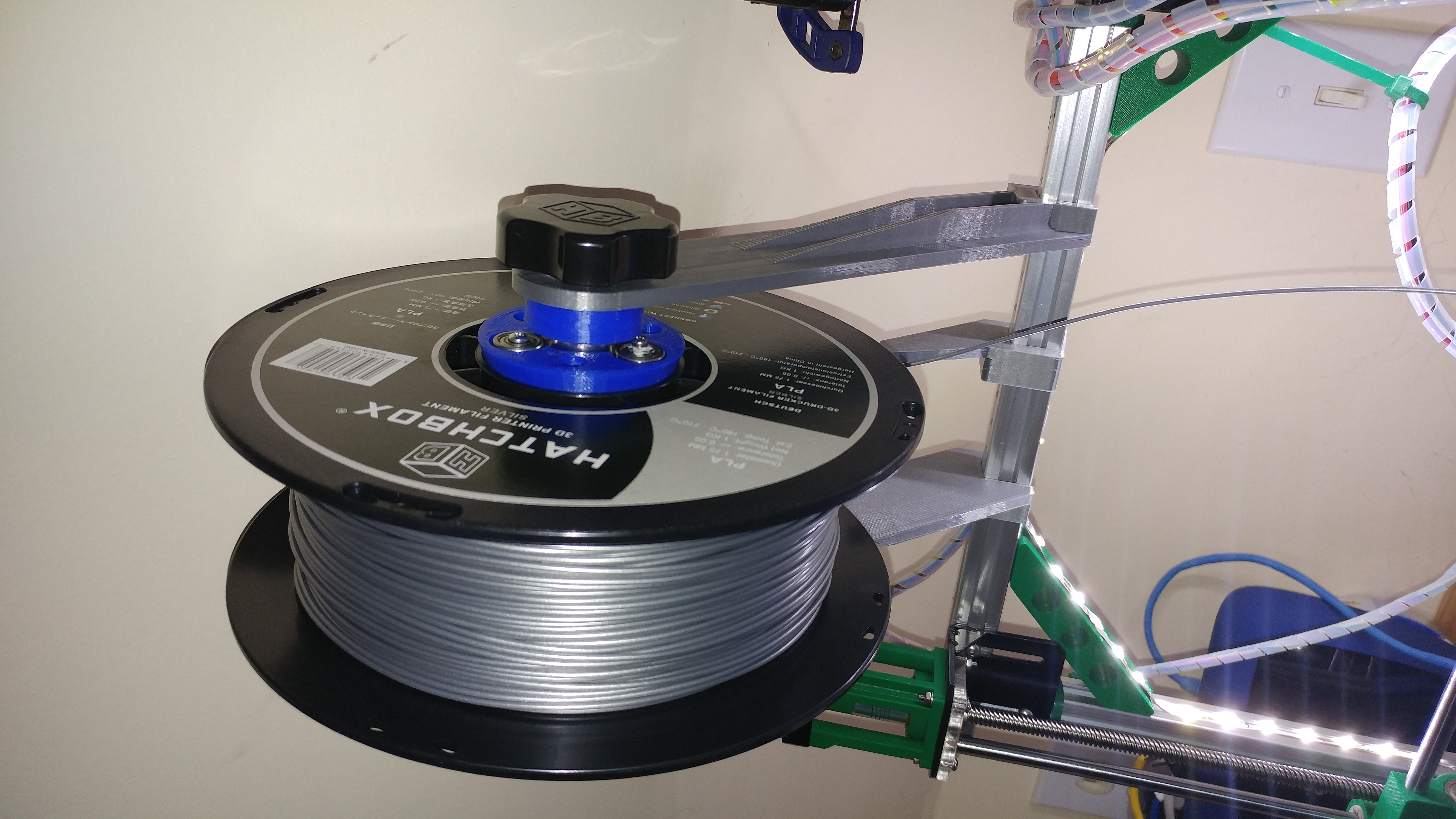 Folger Tech i3 2020 Spool Holder and Guide by jmbneaf - Thingiverse
