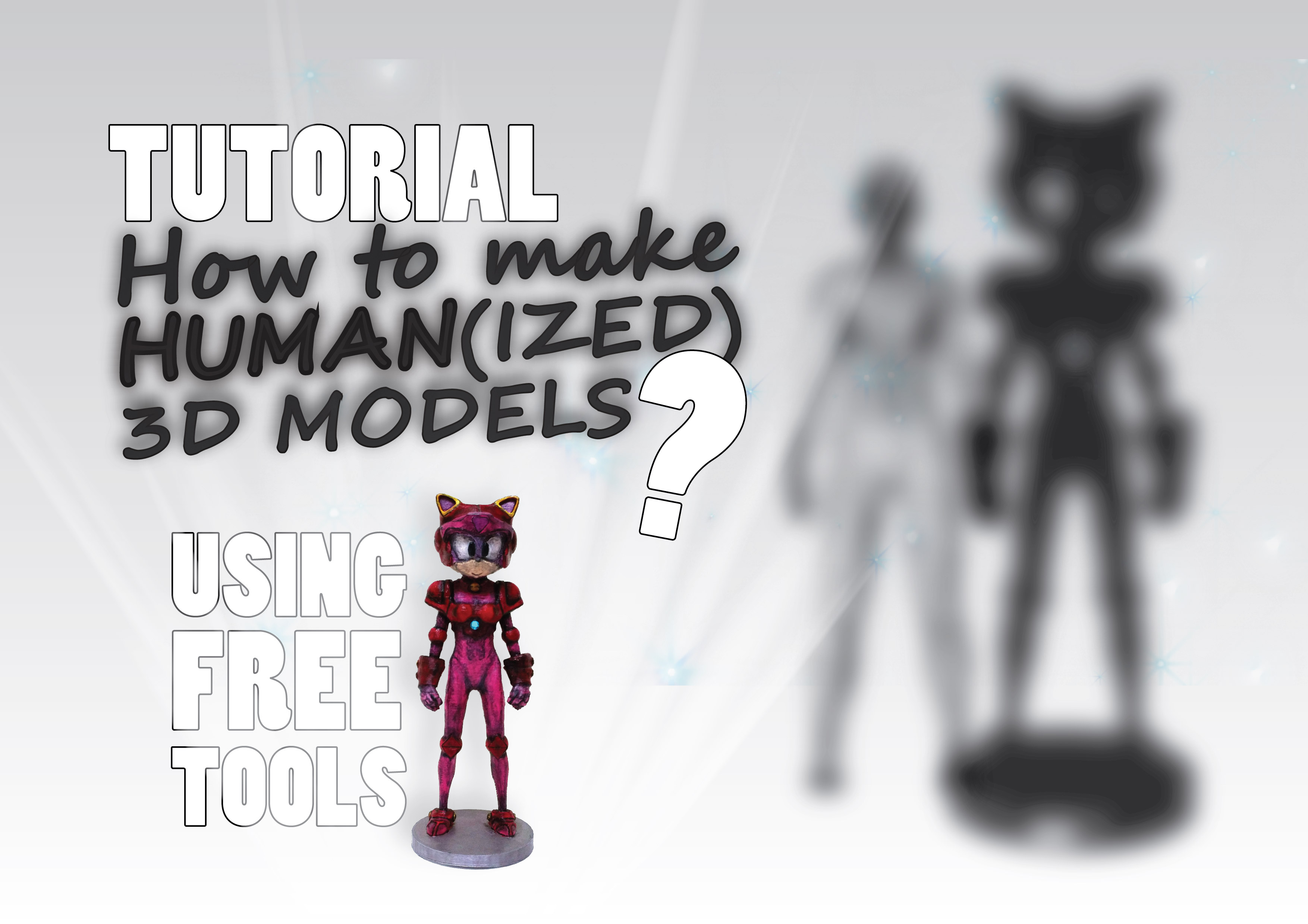 How to make Human(ized) 3D Models? (Tutorial + Example) by Techtek