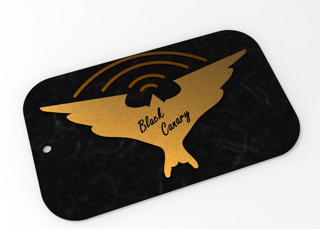 Black Canary Logo Keychain By Arifsethi Thingiverse