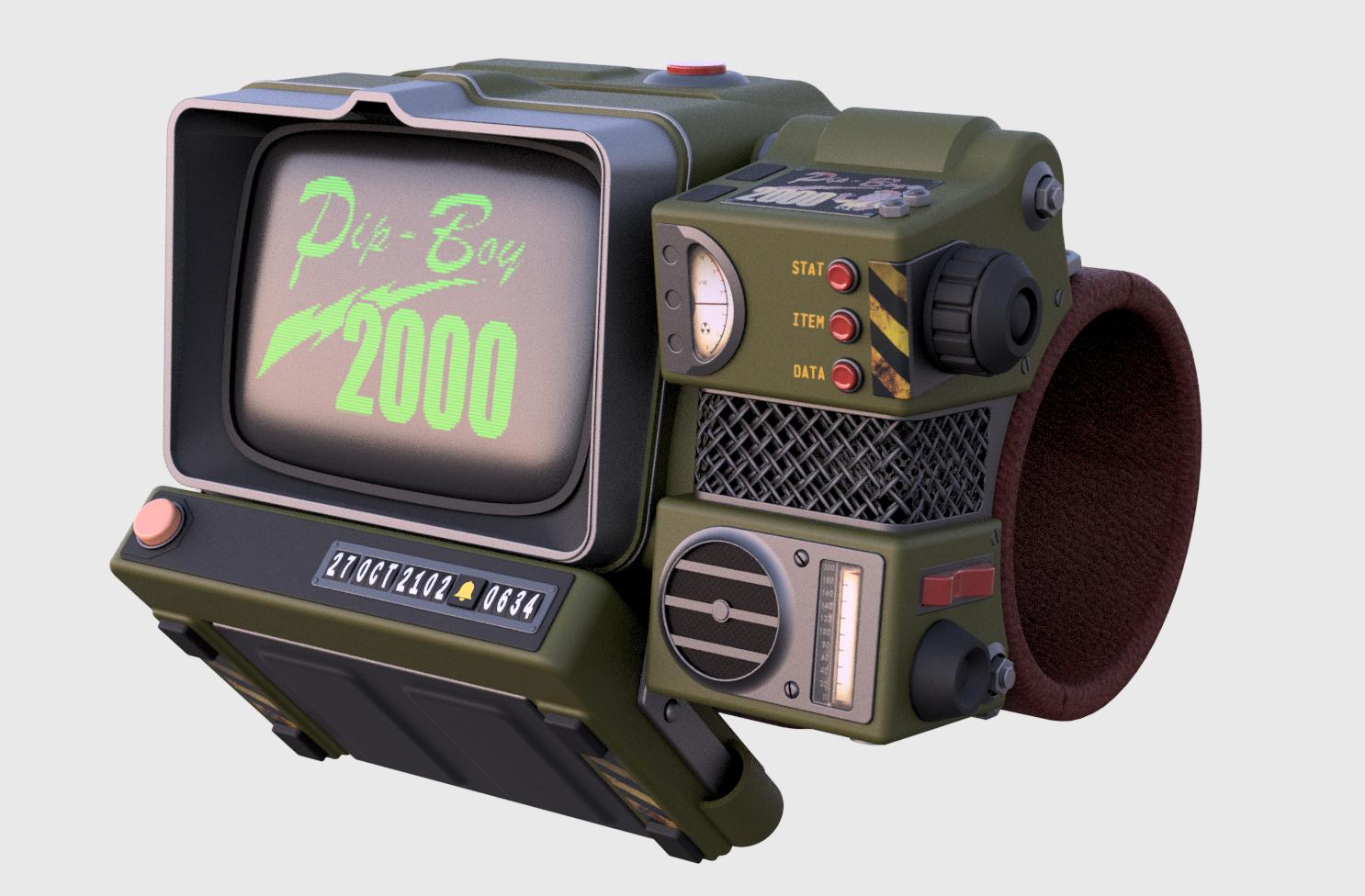 Fallout76 Pip-Boy 2000 Mk VI (WIP) by Victhor - Thingiverse