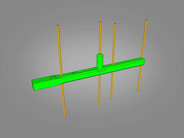 Yagi Antenna 1 2-1 3GHz 4 Element by StuntDouble - Thingiverse