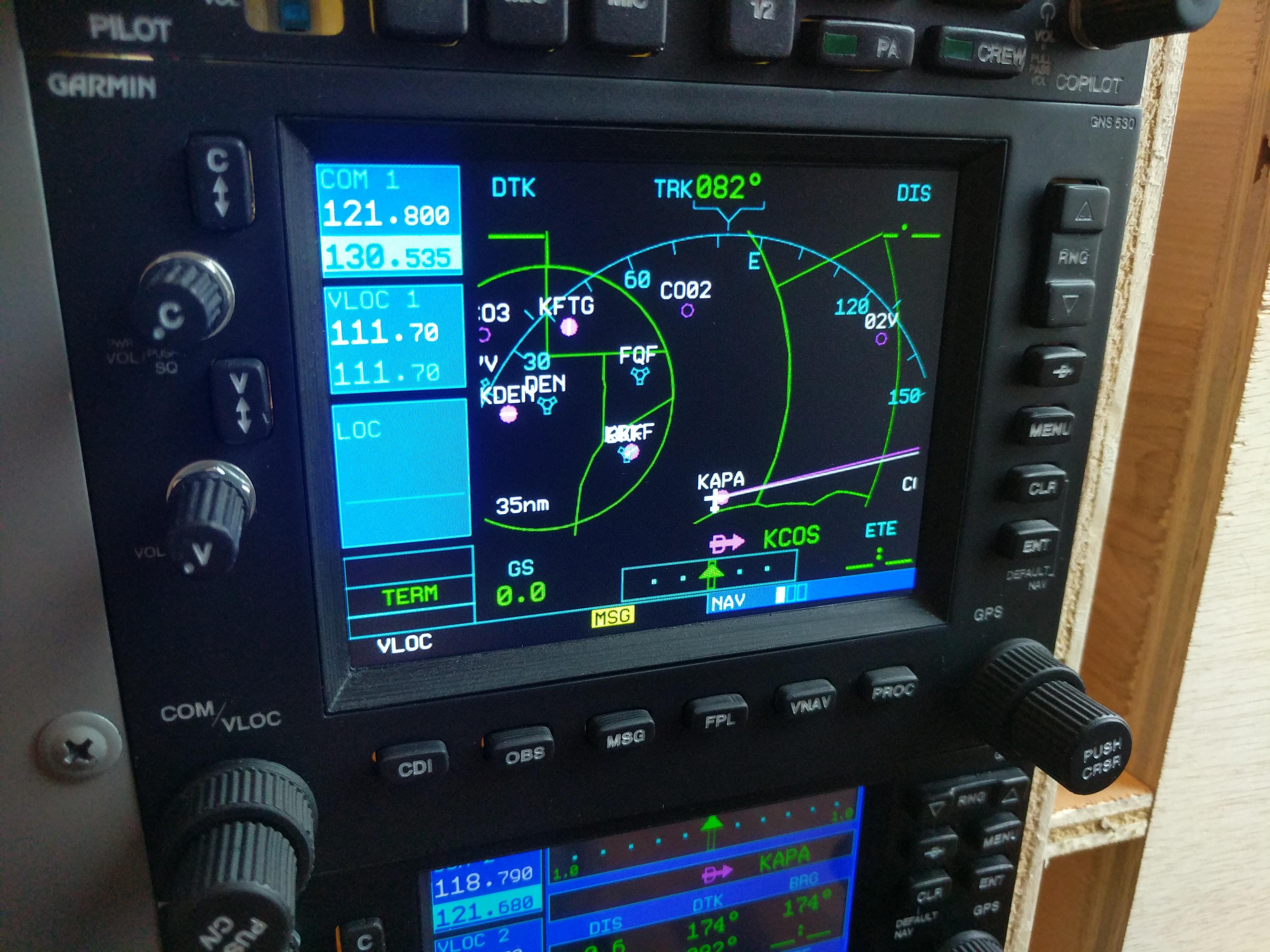 Garmin GNS 530 - Flight Simulator Hardware Interface by allanglen