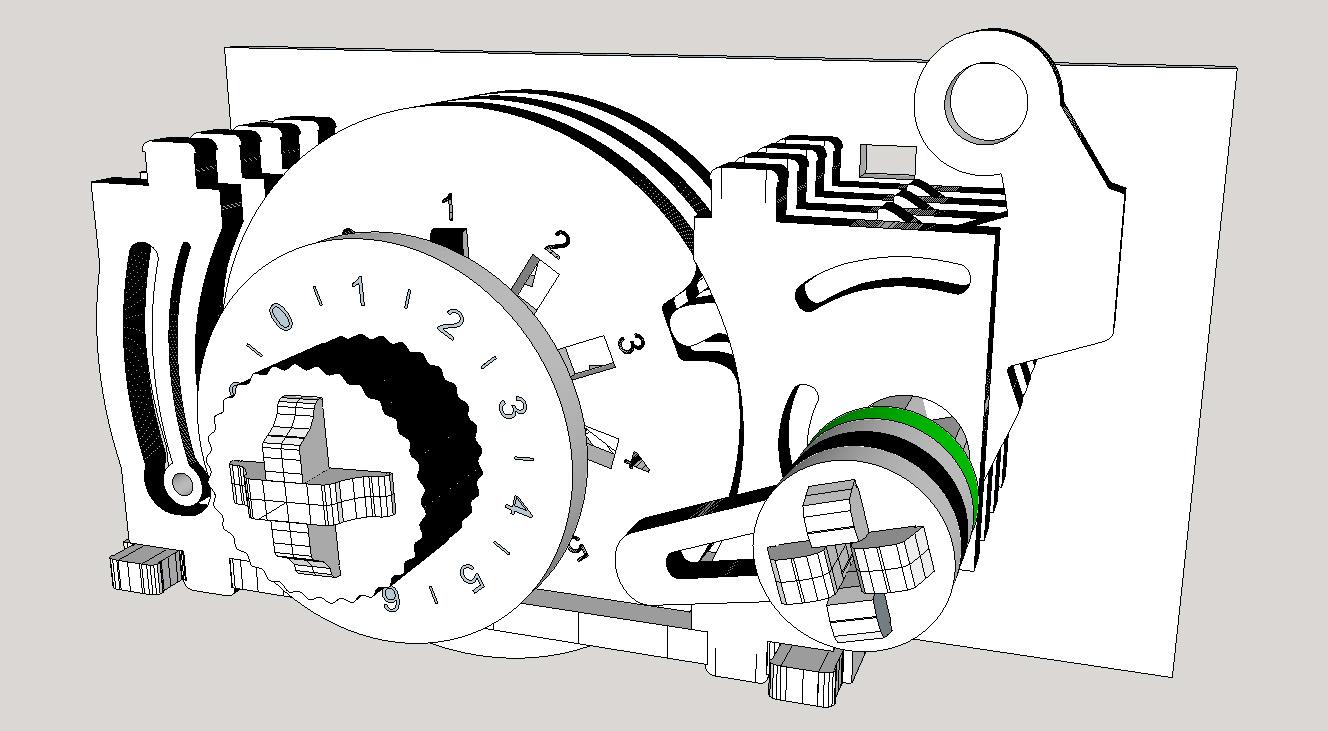 Combination Lock Work In Progress By Thegathering Thingiverse Diagram Jan 14 2018 View Original
