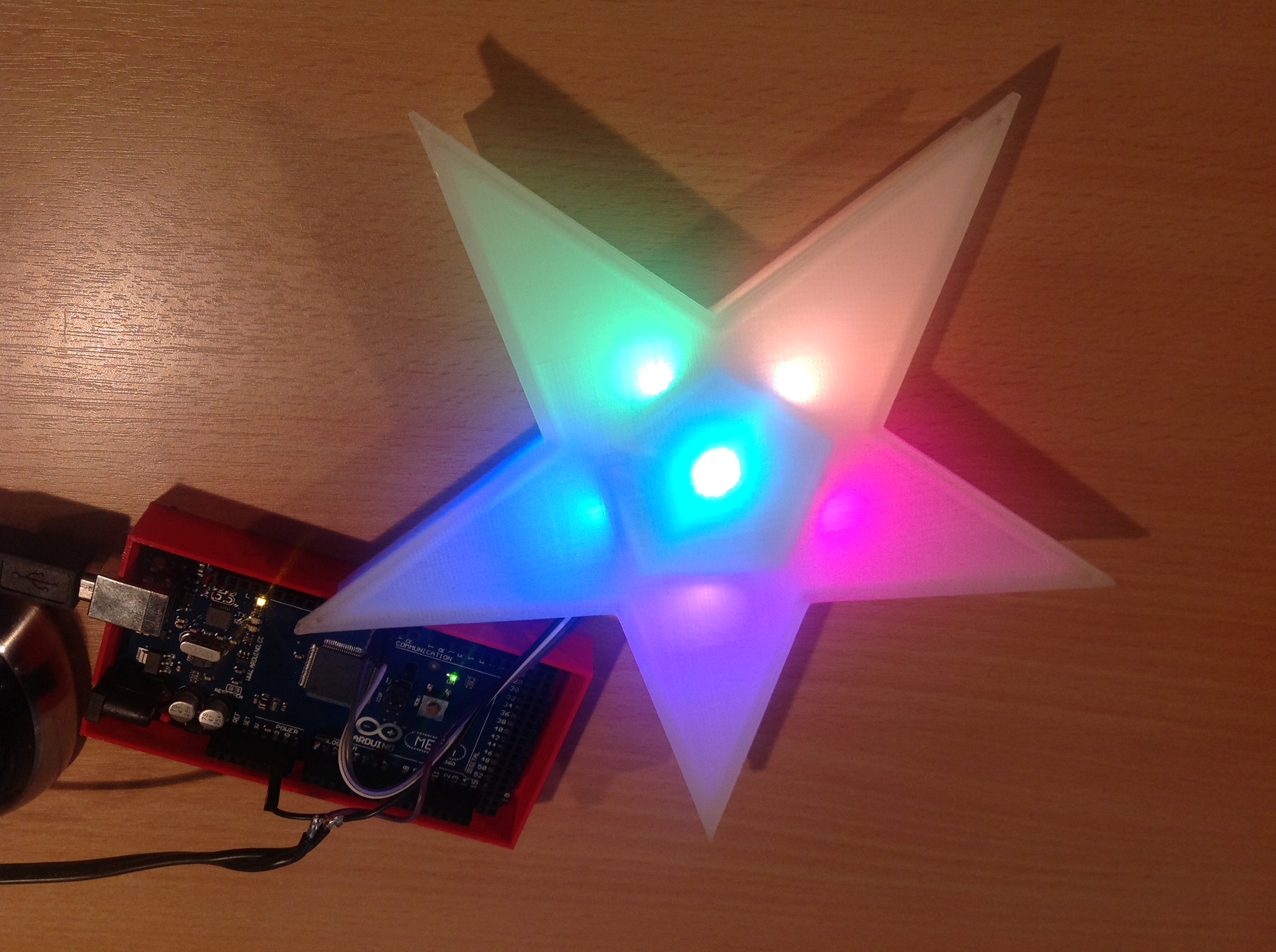Rgb Led Christmas Star By Sn00zerman Thingiverse Arduino Lights Mar 17 2015 View Original