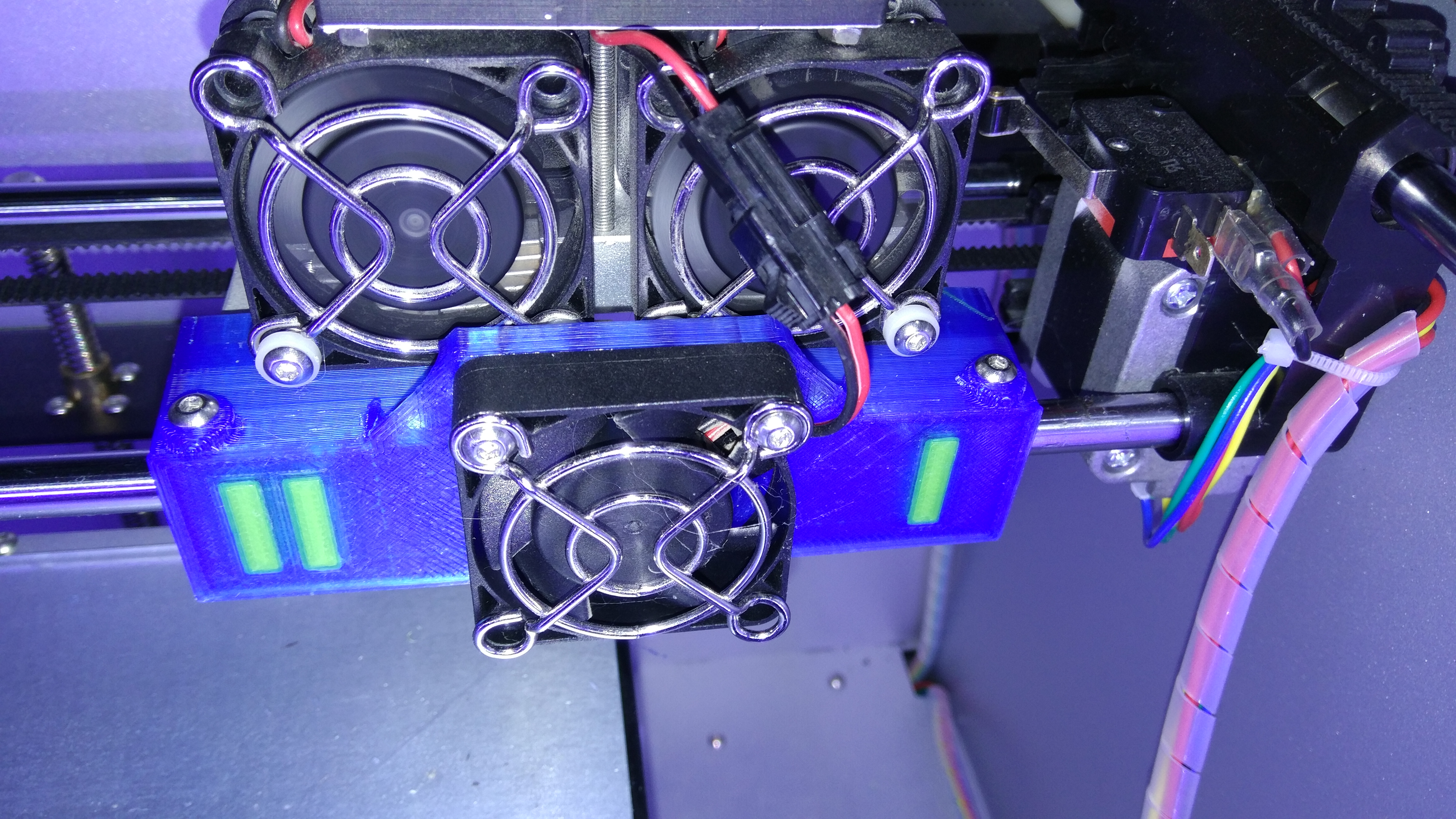 Bibo 2 End caps and fan mount by memmop - Thingiverse
