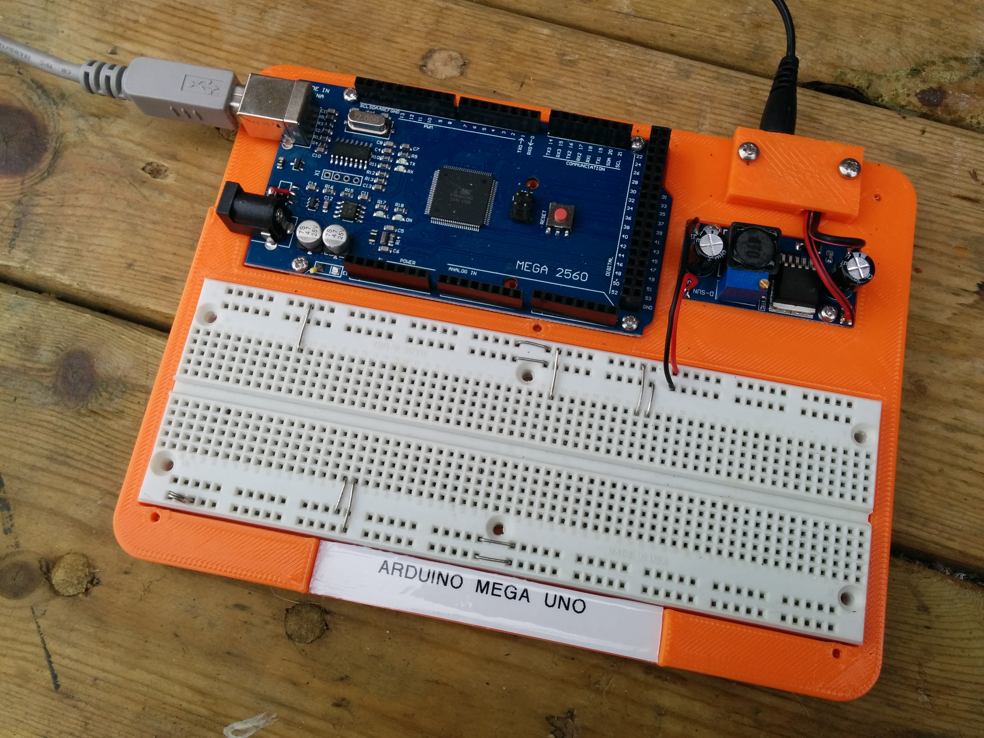 Breadboard For Arduino Mega Or Uno With Regulator By Dimwit Dave Breadboards Electronics Images Original