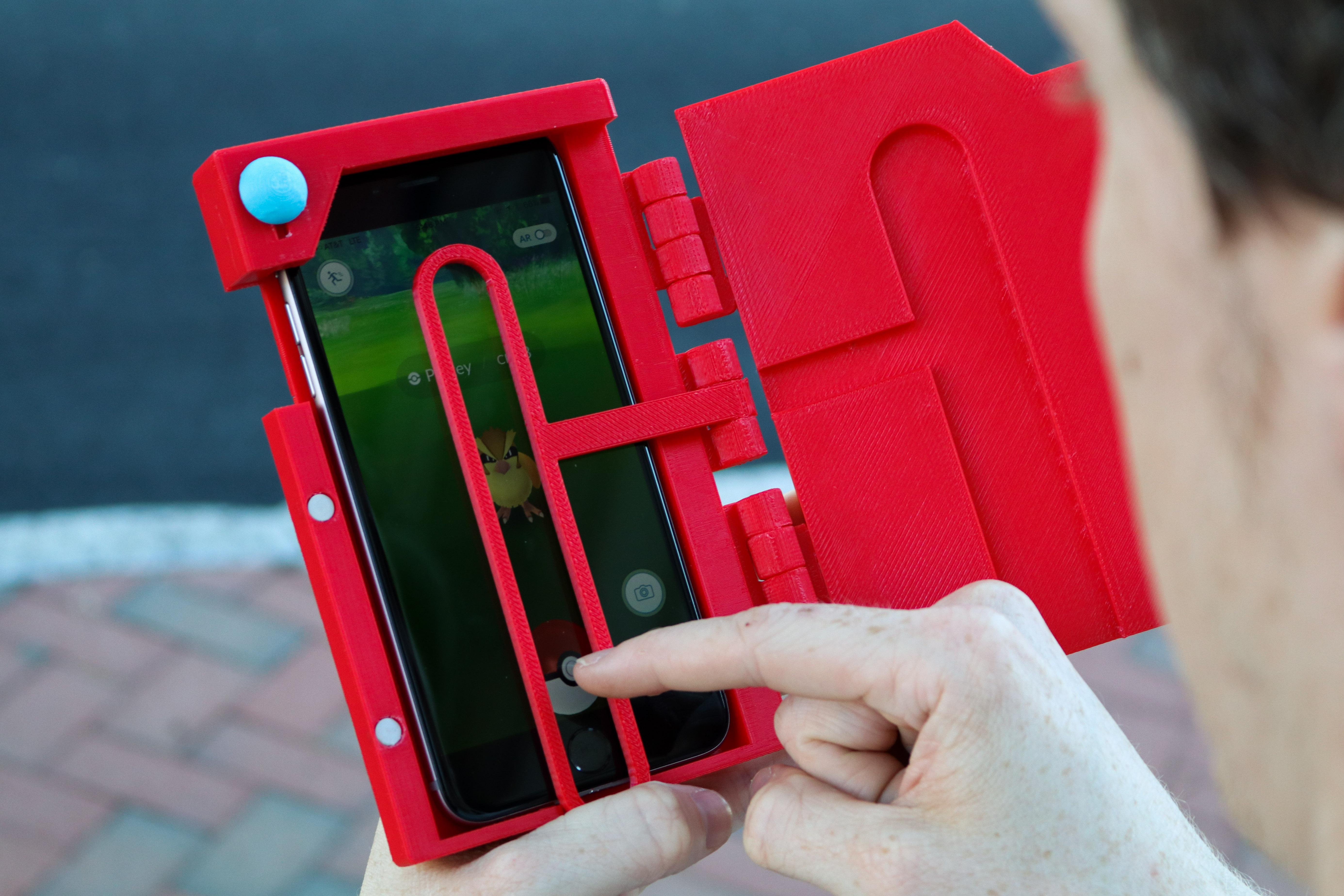 online retailer 3fb44 ebd12 The GO Case: A Pokedex Aimer Phone Case! by 3DCentralVA - Thingiverse