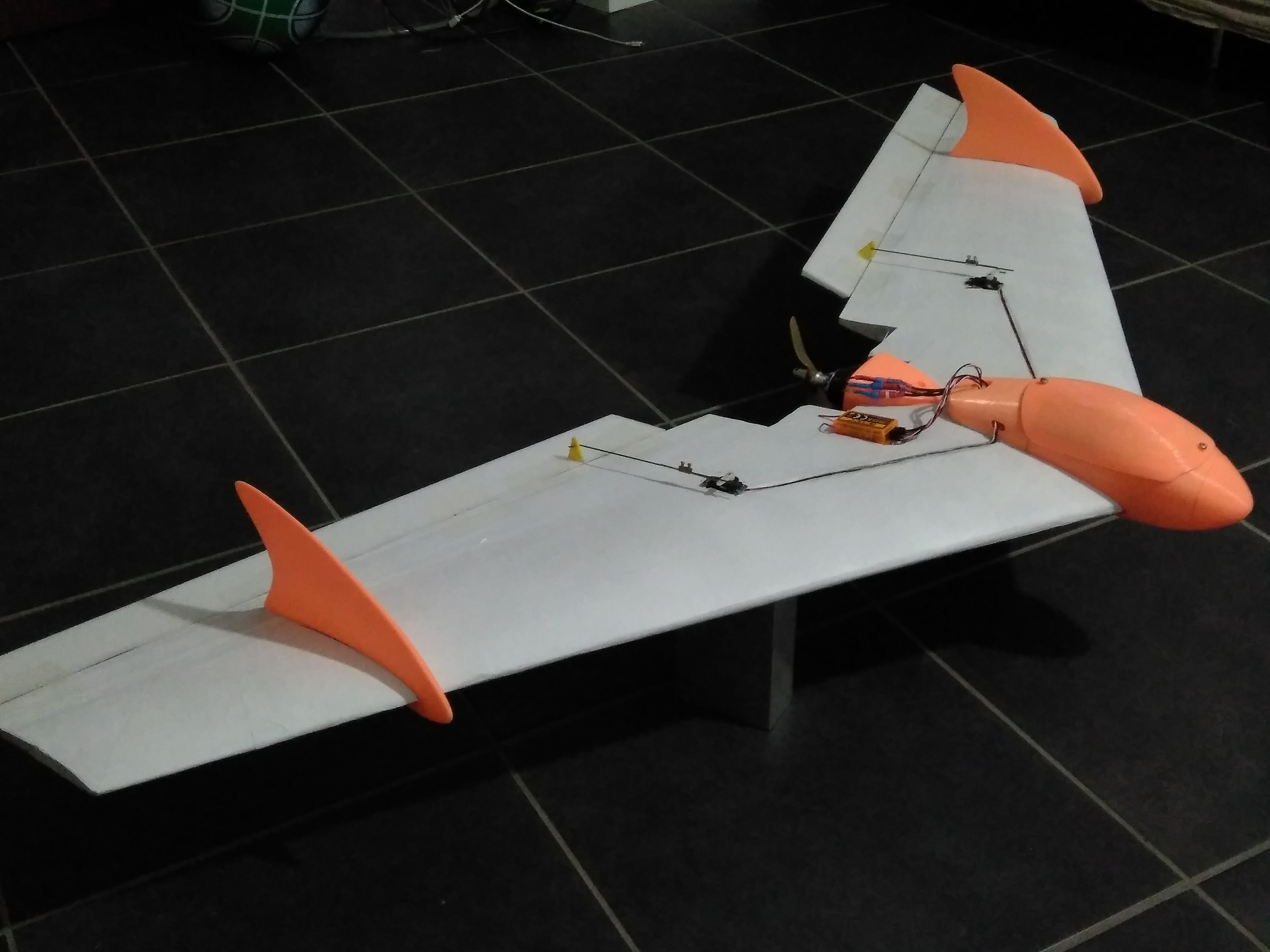 fuselage, fins and motor mount for TZAGI flying wing by