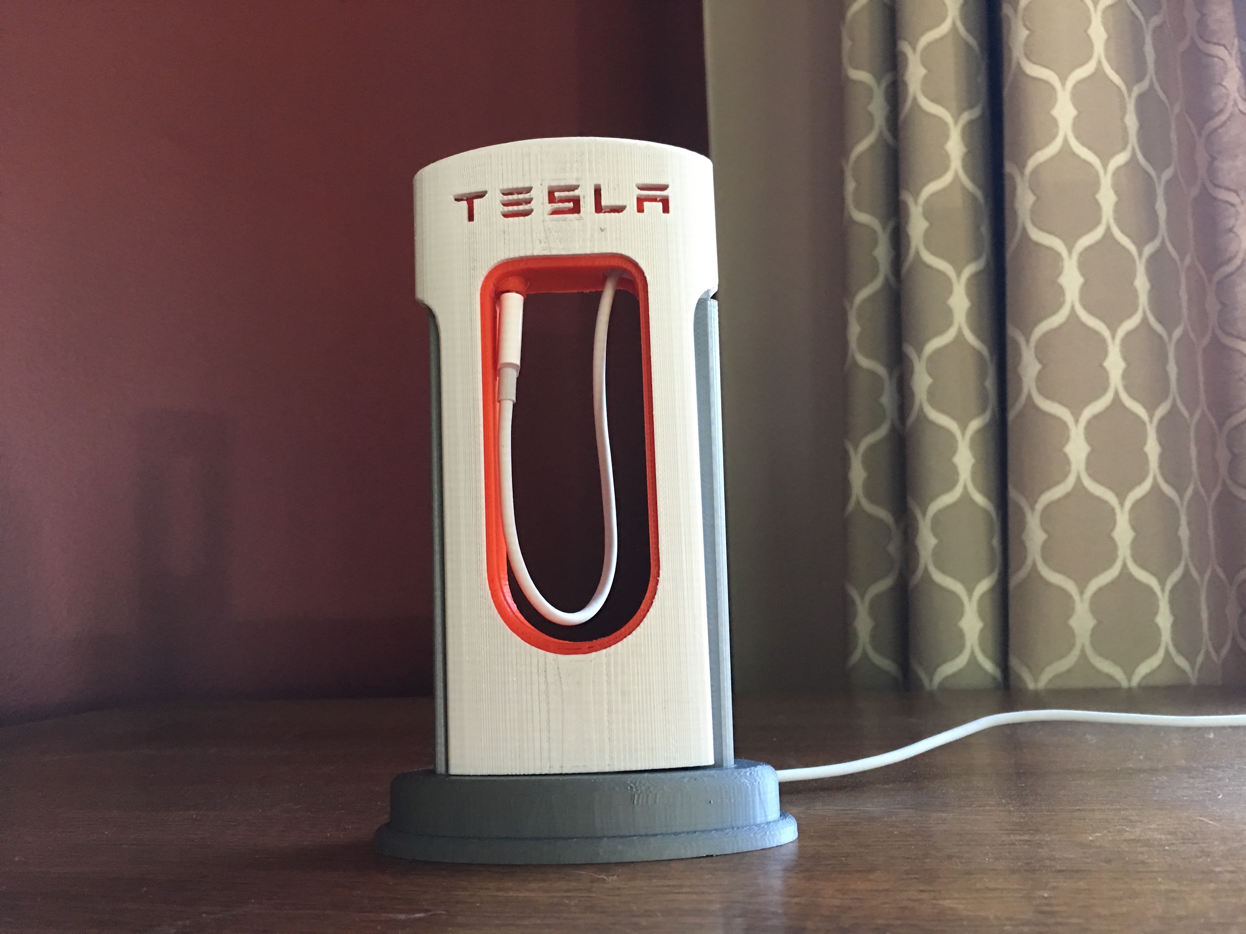 Tesla SuperCharger Phone Charger by RobPfis07 - Thingiverse