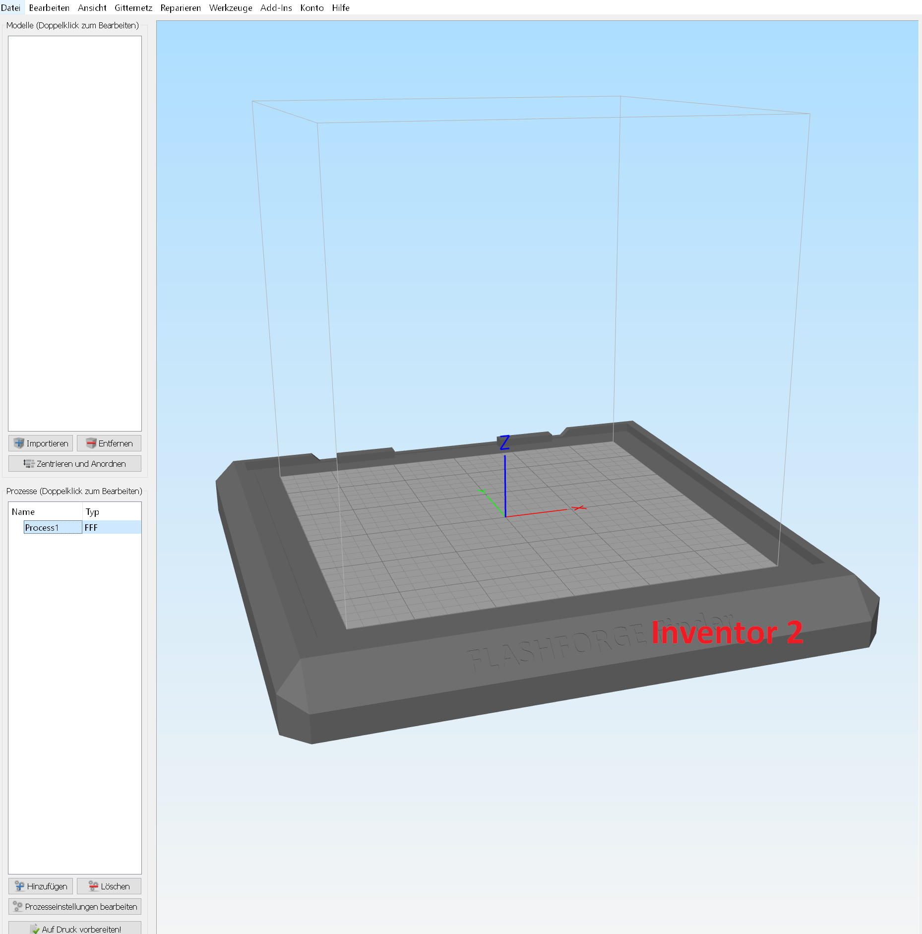 Flashforge Inventor 2 - Bed STL by HydraHimera - Thingiverse