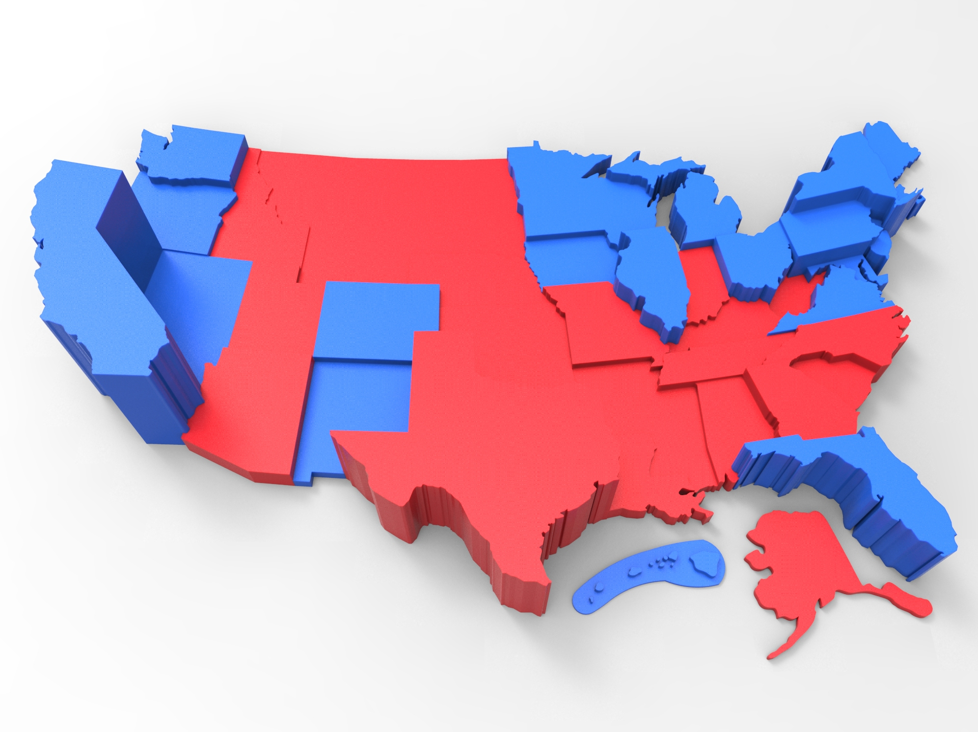 Customizable USA Electoral College Map by TheNewHobbyist