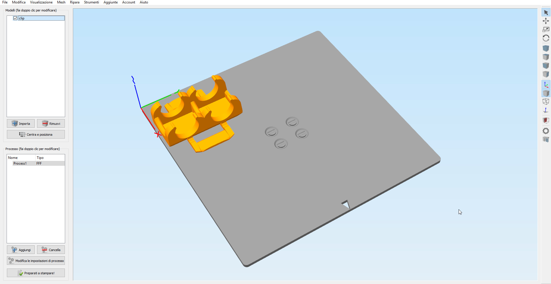 Profile Simplify3D for cetus3D print / STL plate by AntoLed