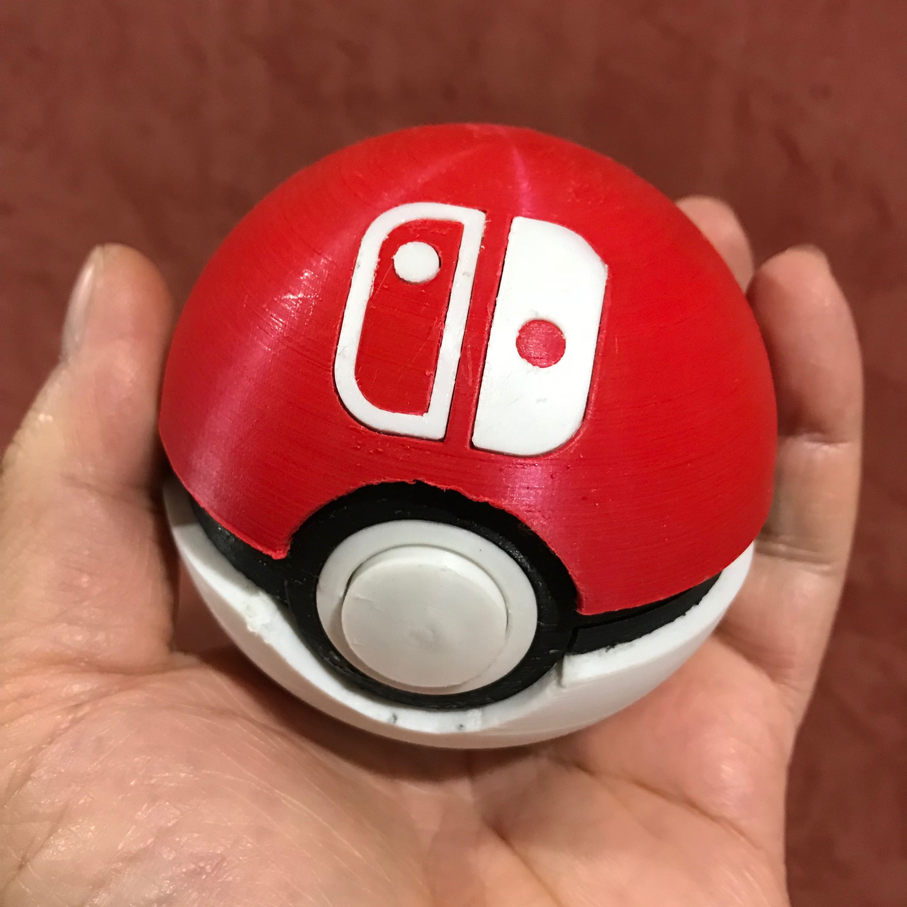 Functional Pokéball - Nintendo Switch Game Cartridge Case (remix) by