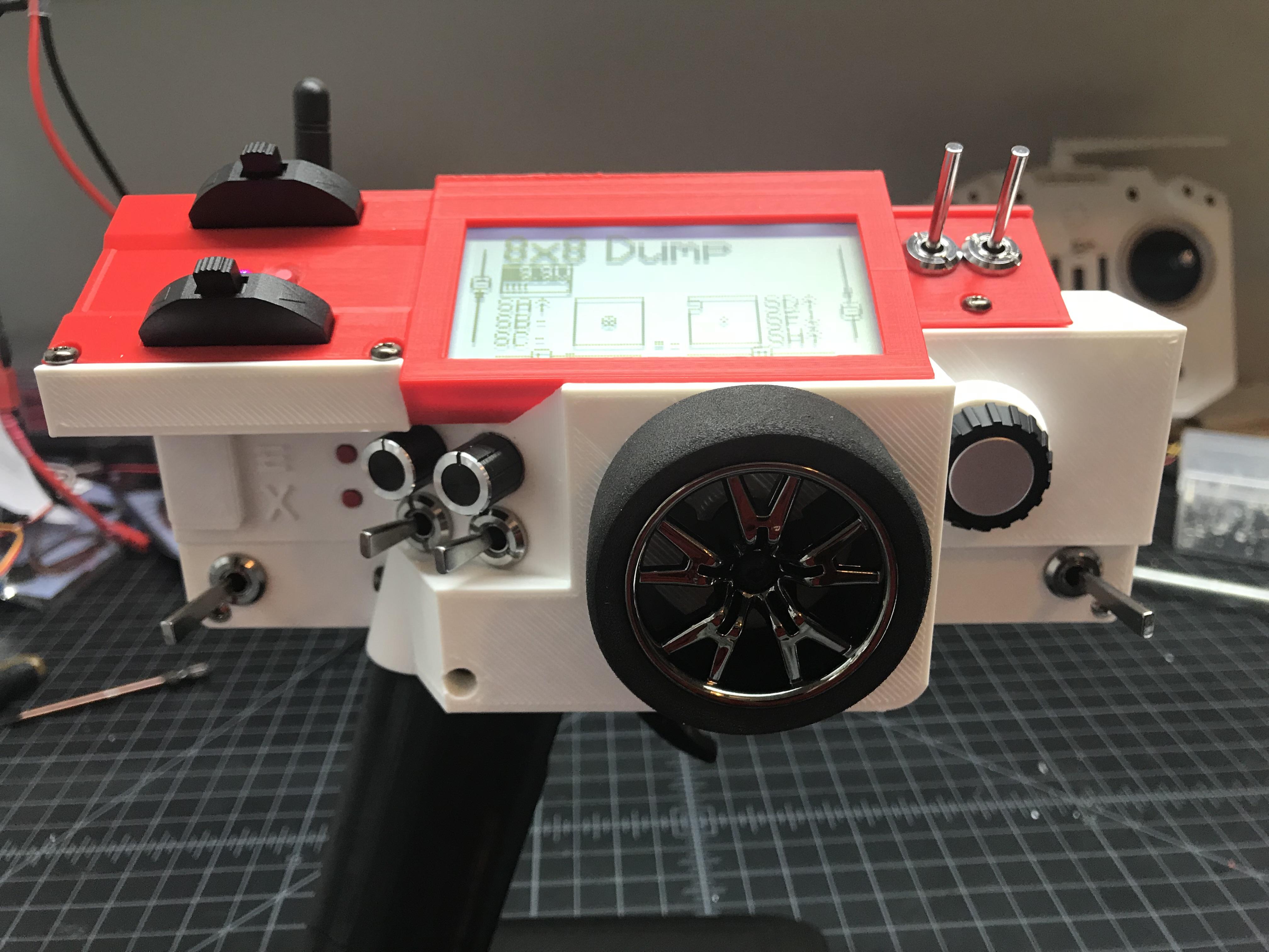 Taranis Pistola: A pistol grip RC controller with a Taranis