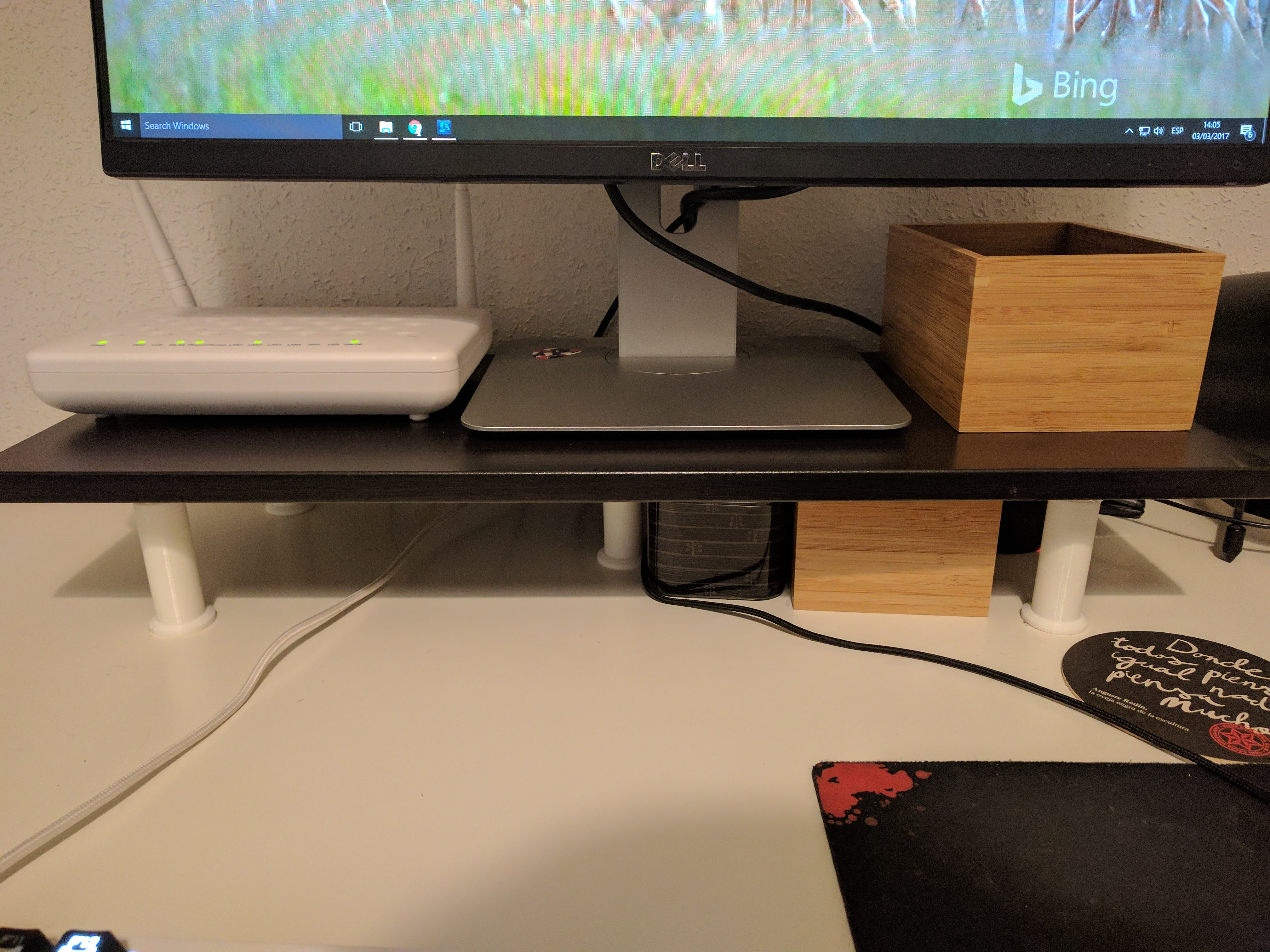 Iets Nieuws Monitor Stand (with IKEA EKBY LAIVA) under 5$ by arturogdc #FJ65