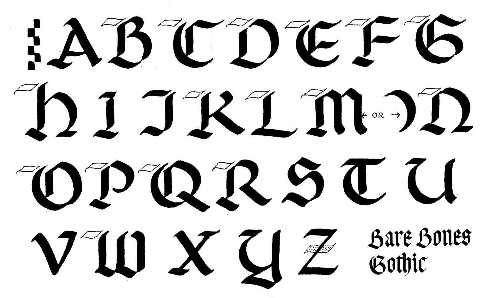 Medieval Gothic Script Letters By Mfritz May 6 2017 View Original