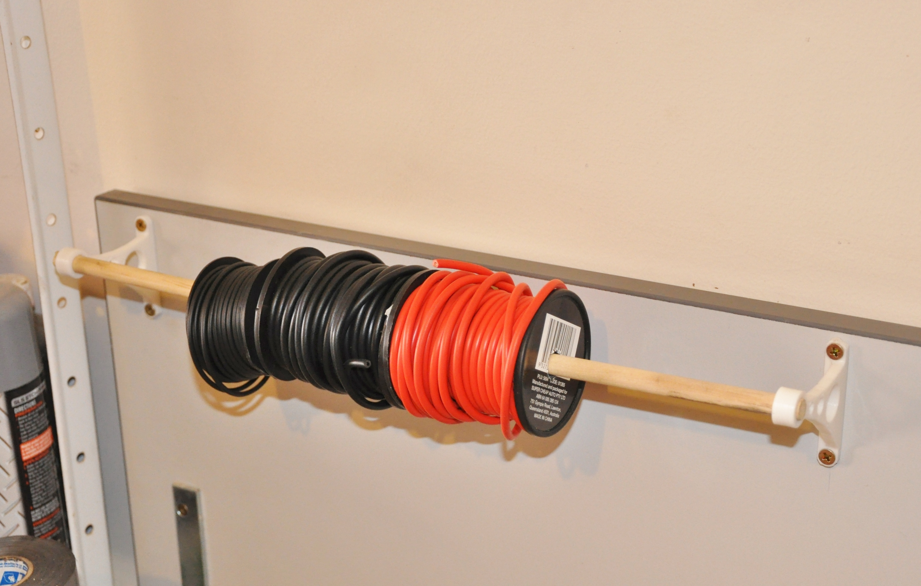Wire Spool Holder Bracket by MCroucher - Thingiverse