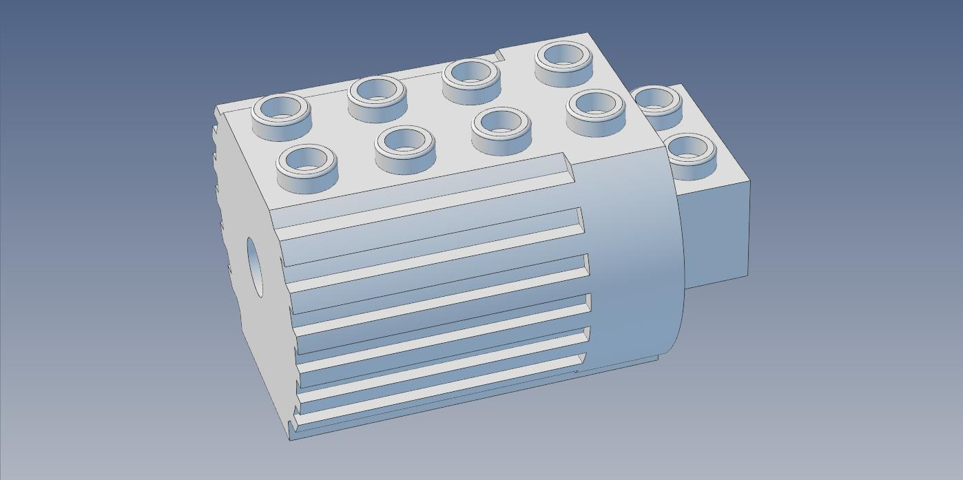 Lego Technic Motor 870 Basic Shell Scale X 1 By Mantisrobot